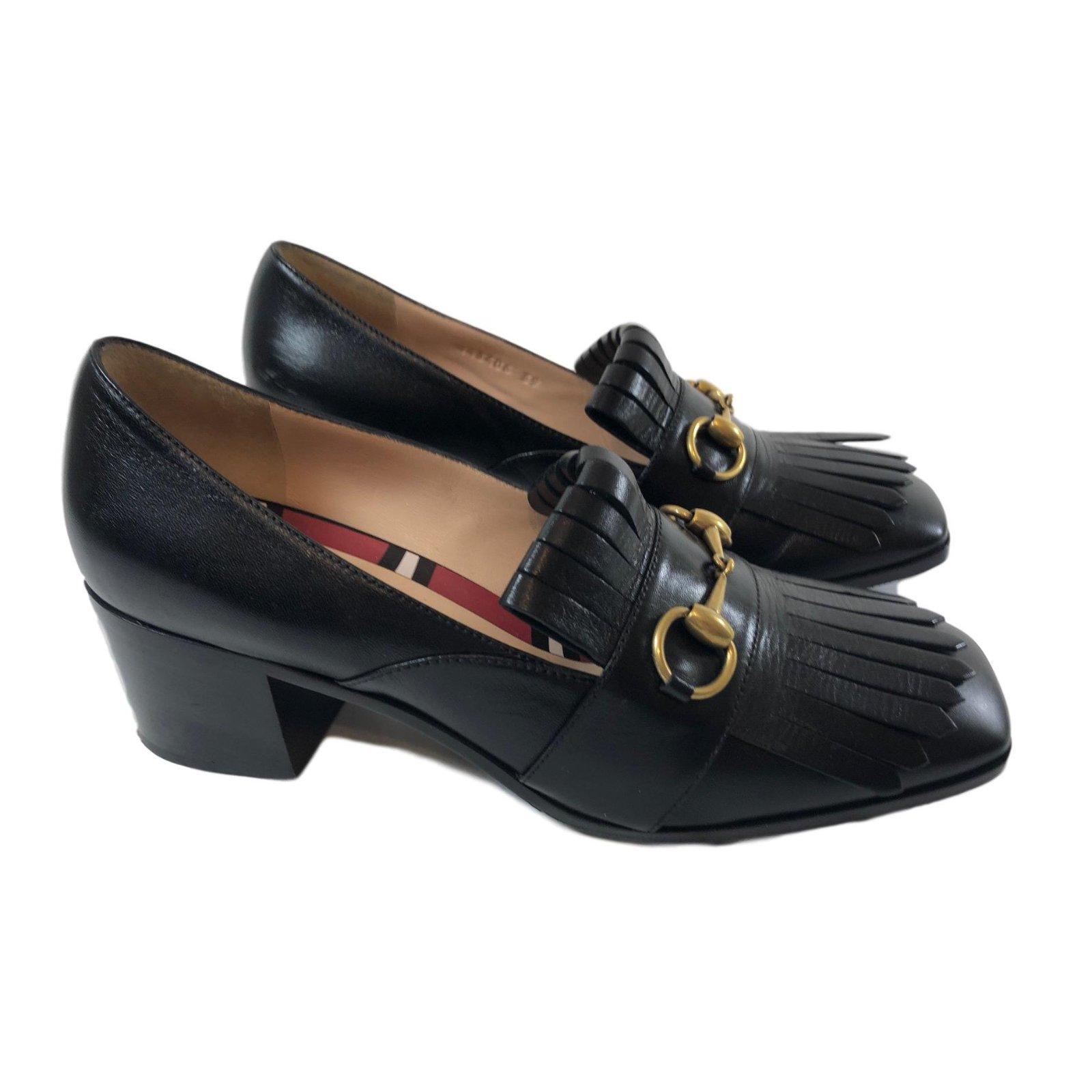 8da8faaba241 Gucci Loafers Flats Leather Black ref.68679 - Joli Closet
