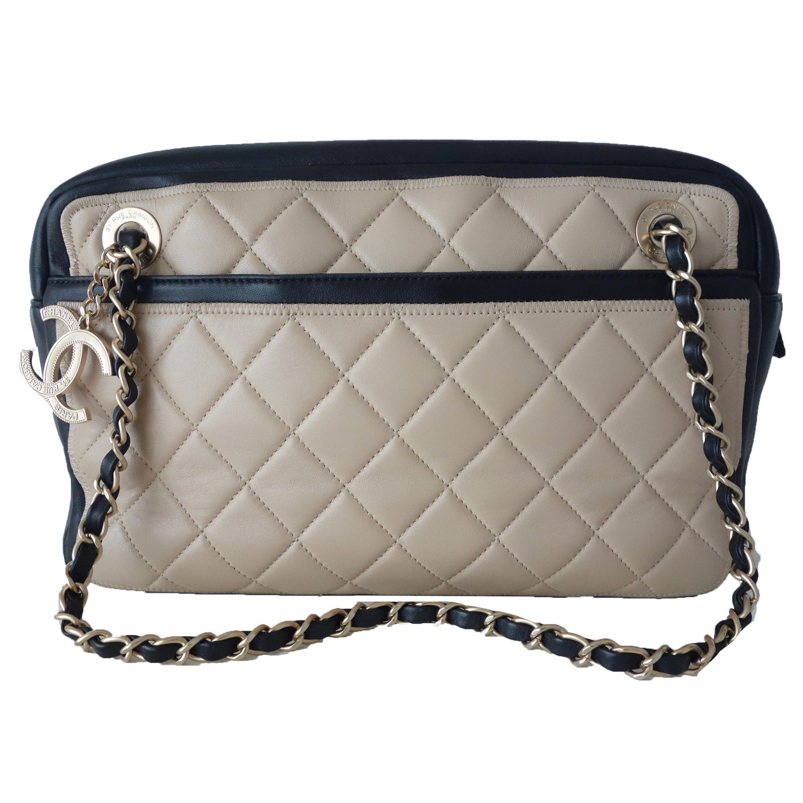 6ecb9090a217 Chanel Coco Boy Camera Bag Quilted Leather Mini At 1stdibs