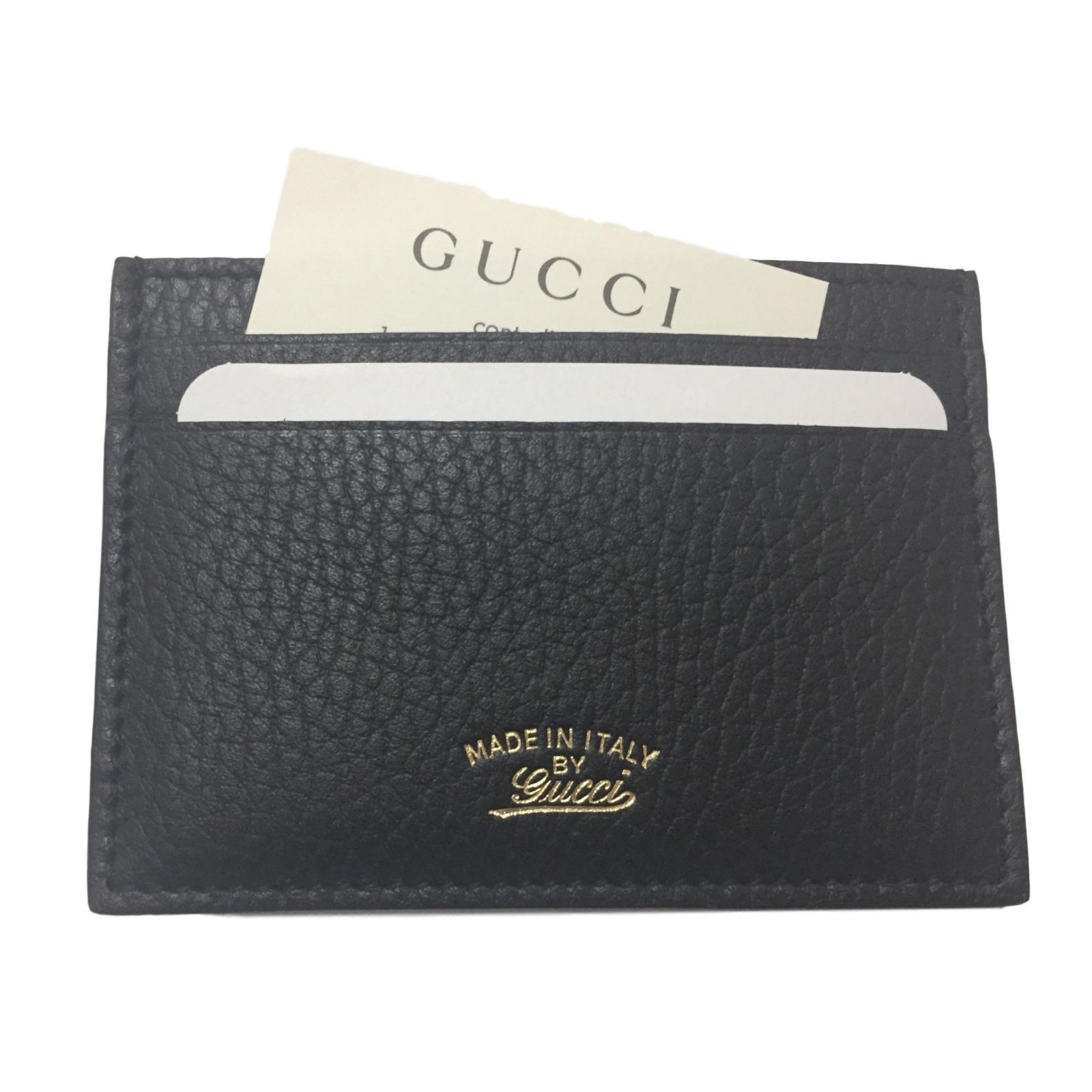 d86af7cd599a Gucci Card holder Purses, wallets, cases Leather Black ref.68798 ...
