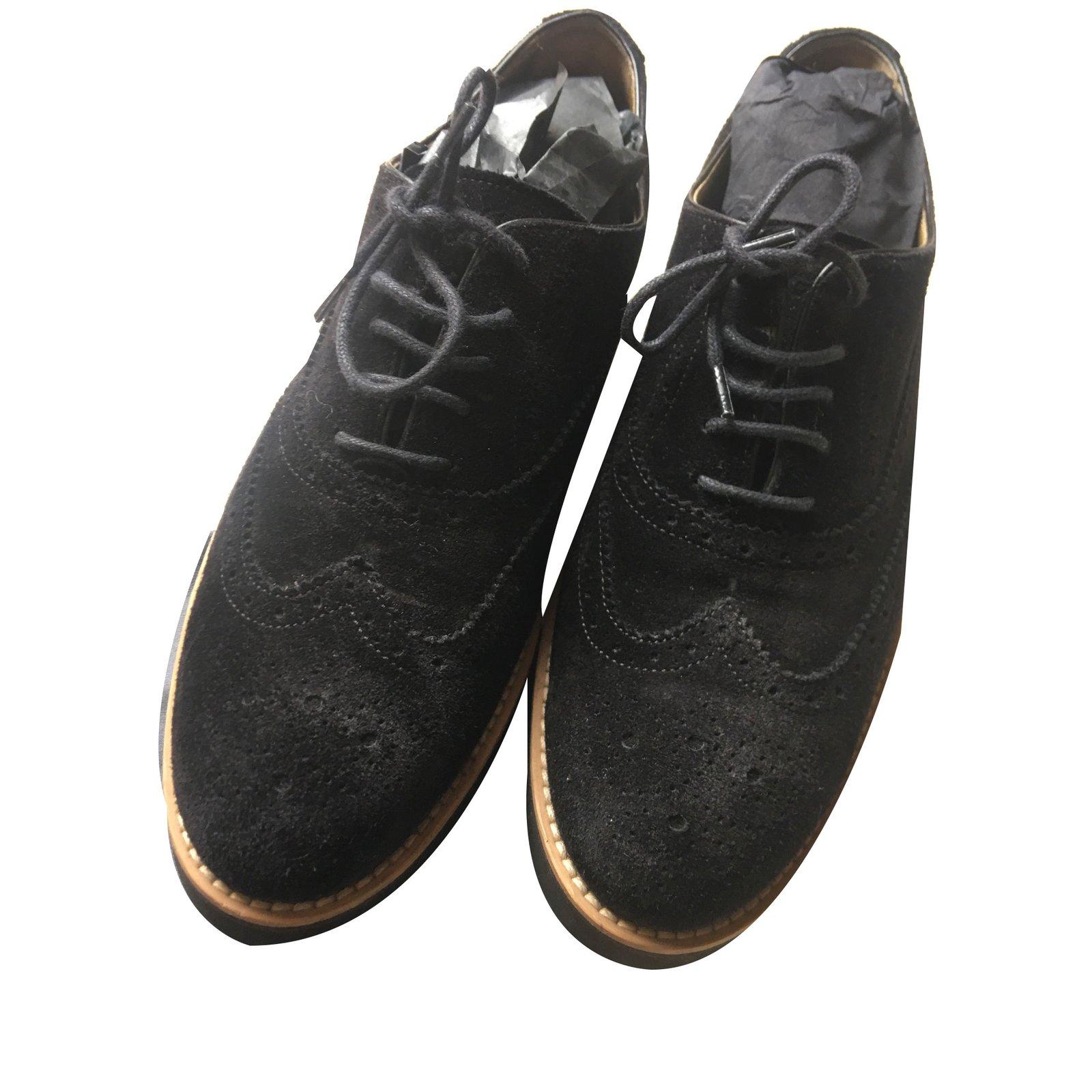 Hogan derby shoes Lace ups Deerskin Black ref.68858 - Joli Closet