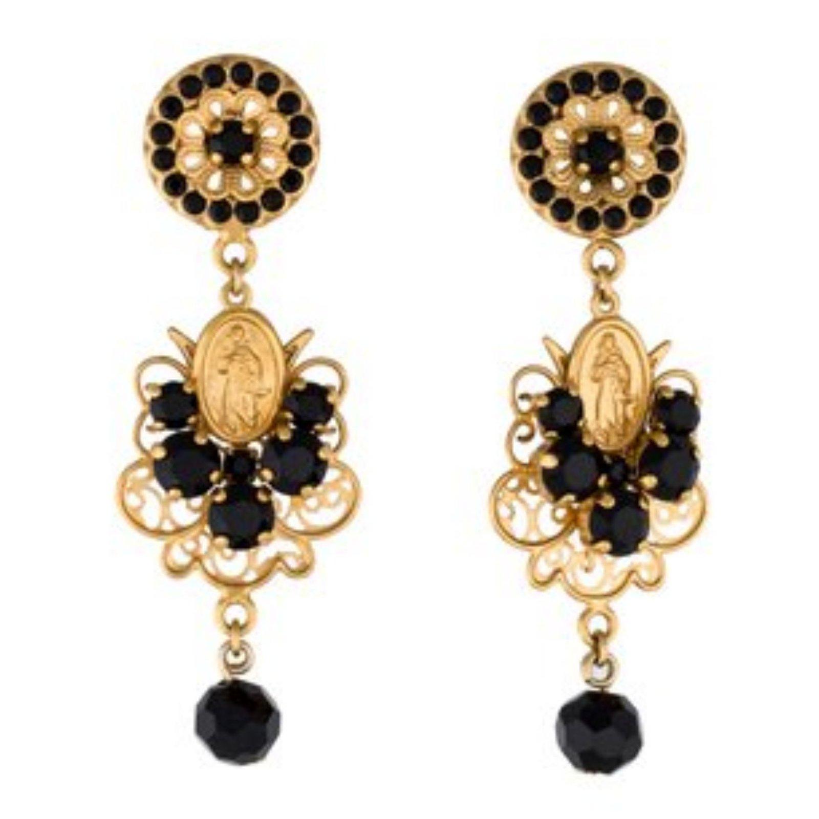 Dolce Gabbana Earrings Other Black Golden Ref 68906