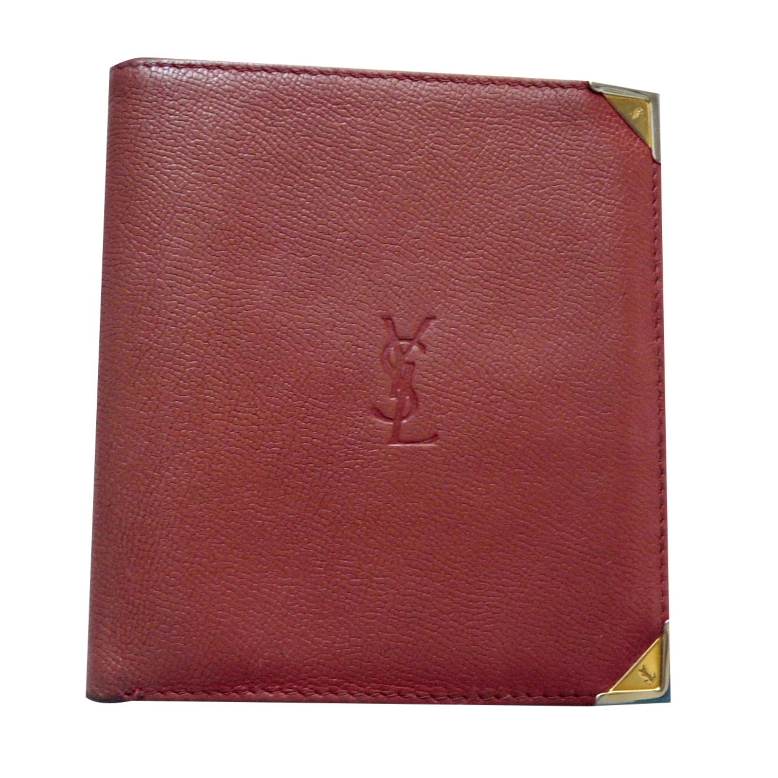 4189f1605c0 Yves Saint Laurent Vintage wallet Wallets Leather Red ref.68975 ...