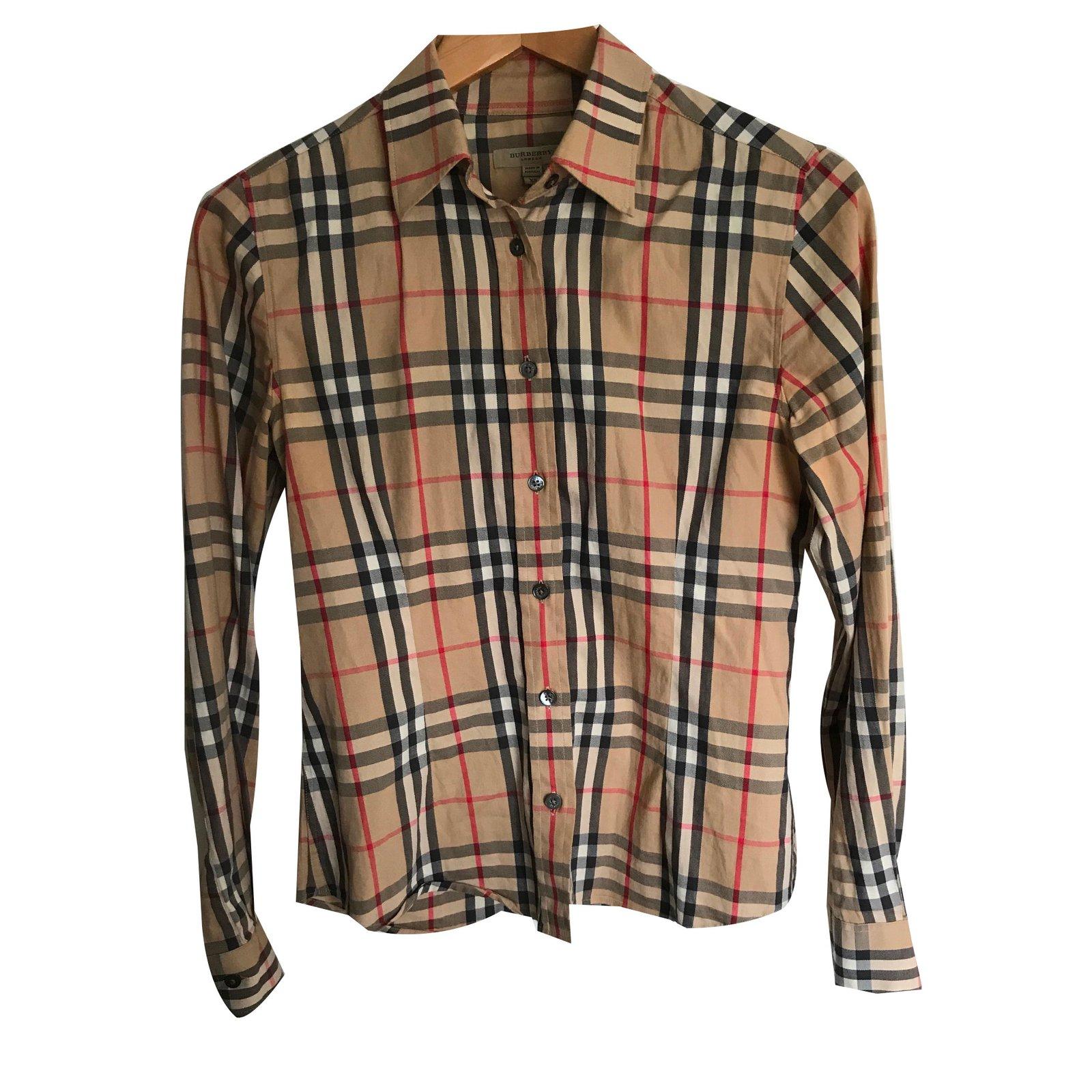 Tops Burberry Chemise Coton Multicolore ref.69051 - Joli Closet 58098a1b4d02