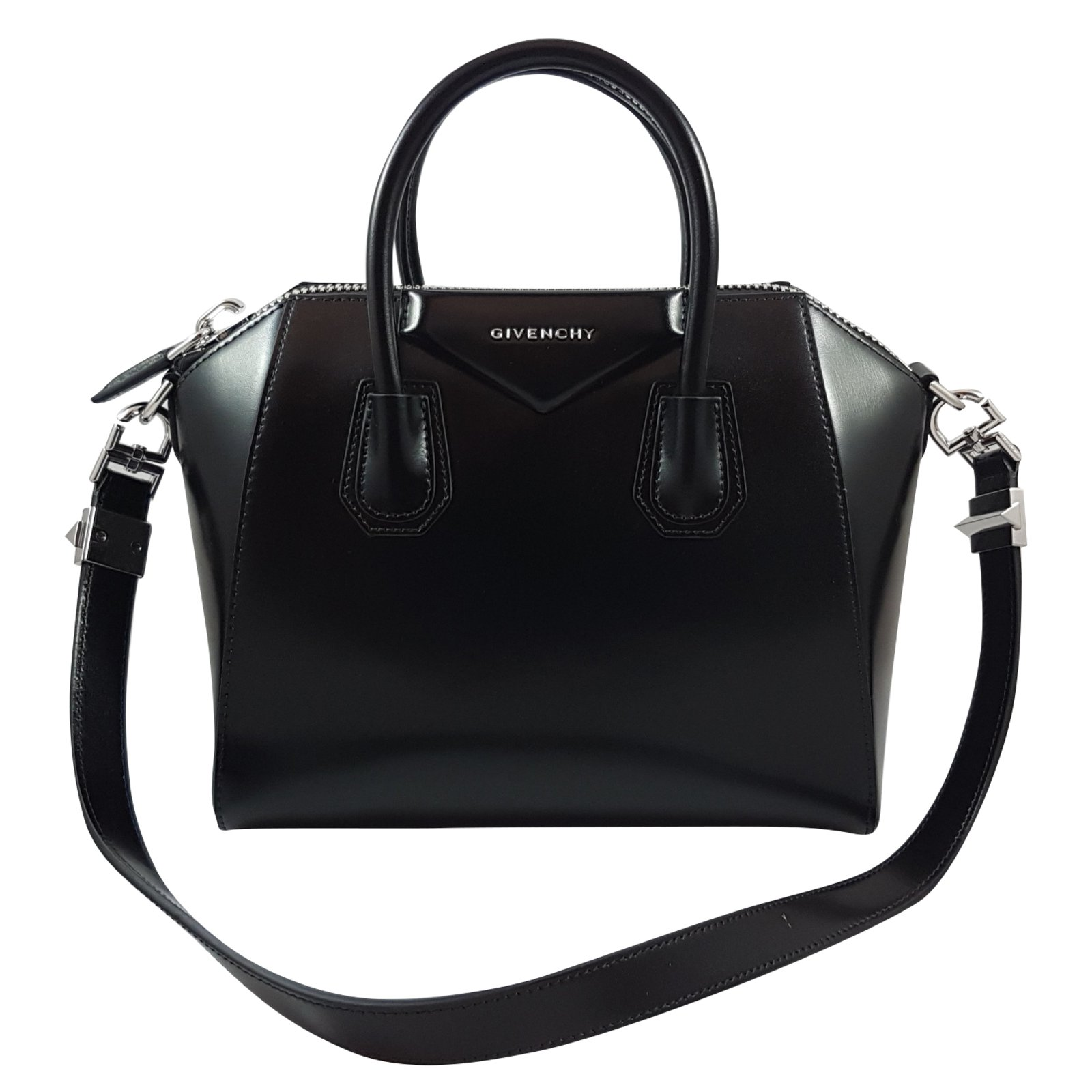 Givenchy Givenchy Antigona Small Black Leather Handbags Leather Black  ref.69251 3537af8d698d4
