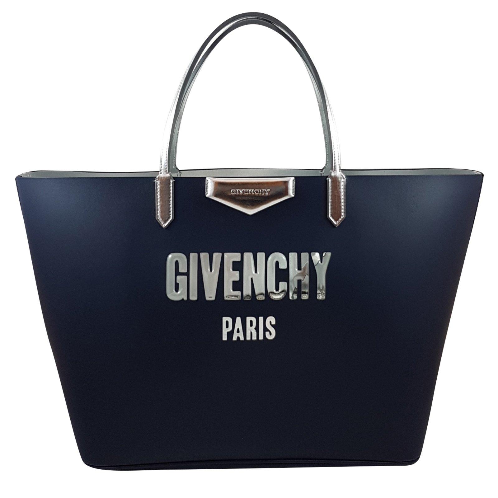 4b5c6f96aaac Givenchy Givenchy Antigona Shopping Tote Handbags Leather Blue ref.69253