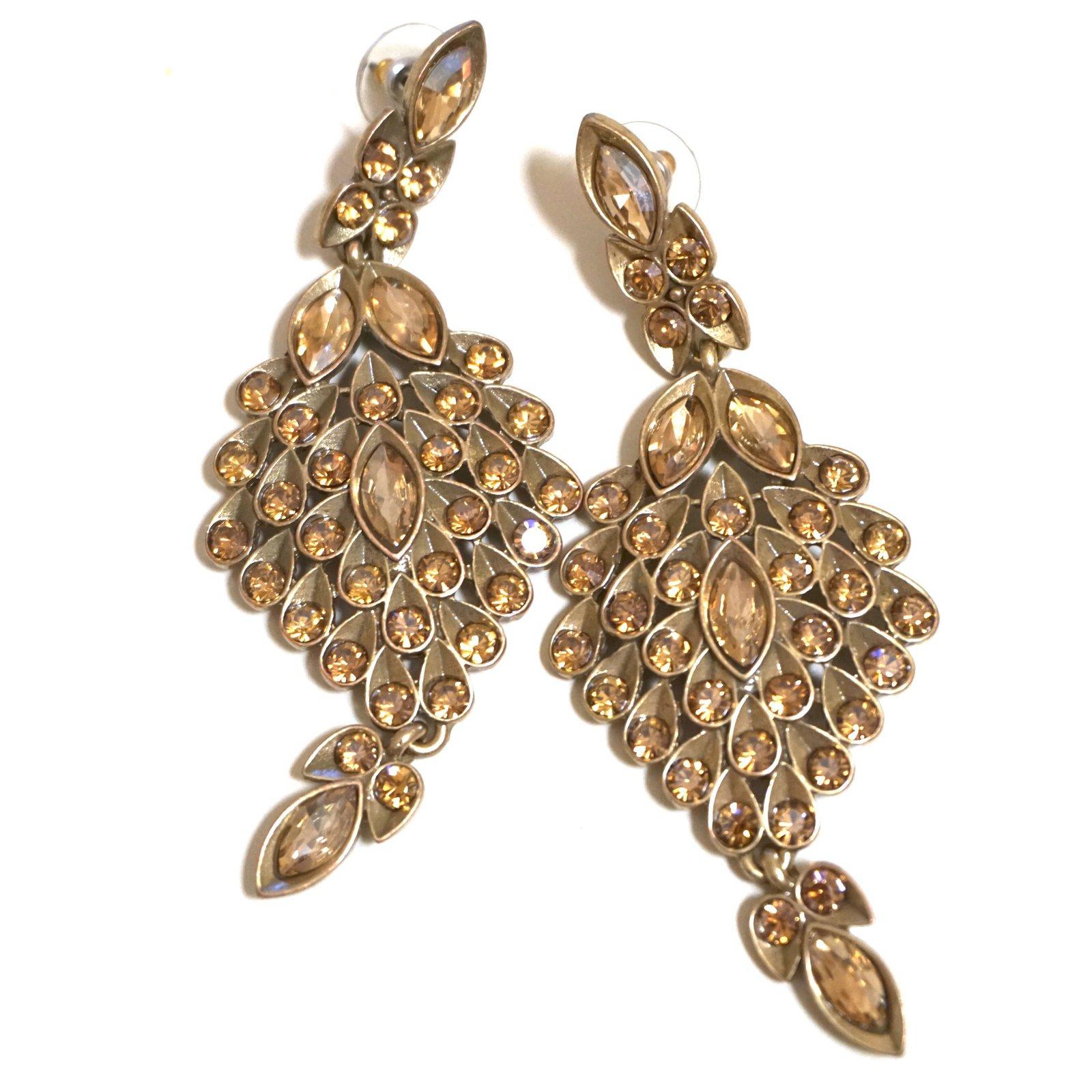 Oscar de la Renta beaded pendant earrings BLACK Women Jewellery,oscar de la  renta dresses