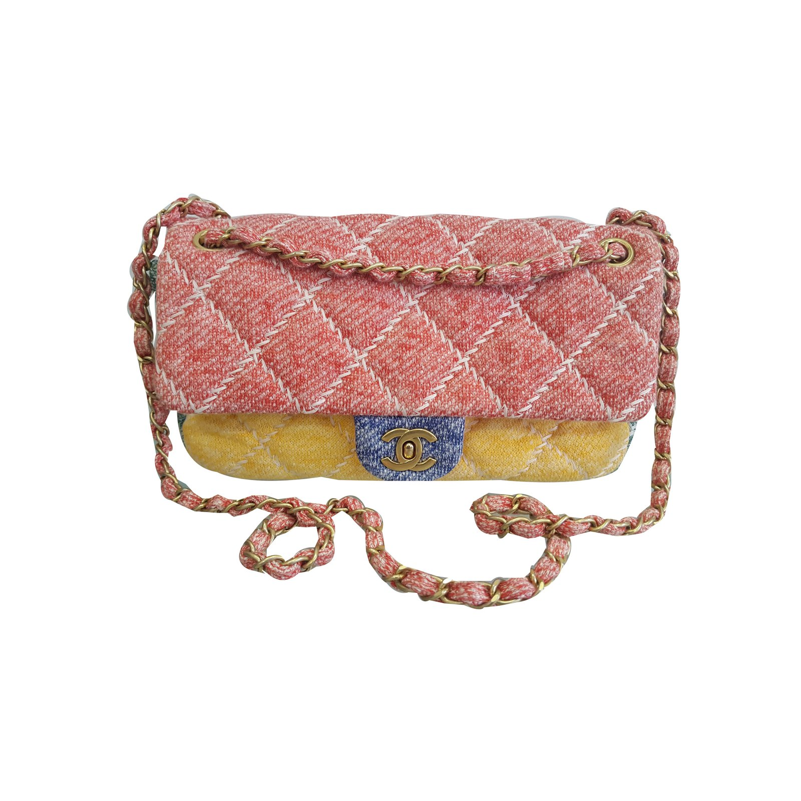 2f892f4c8a7e Chanel Timeless Handbags Wool Multiple colors ref.69454 - Joli Closet