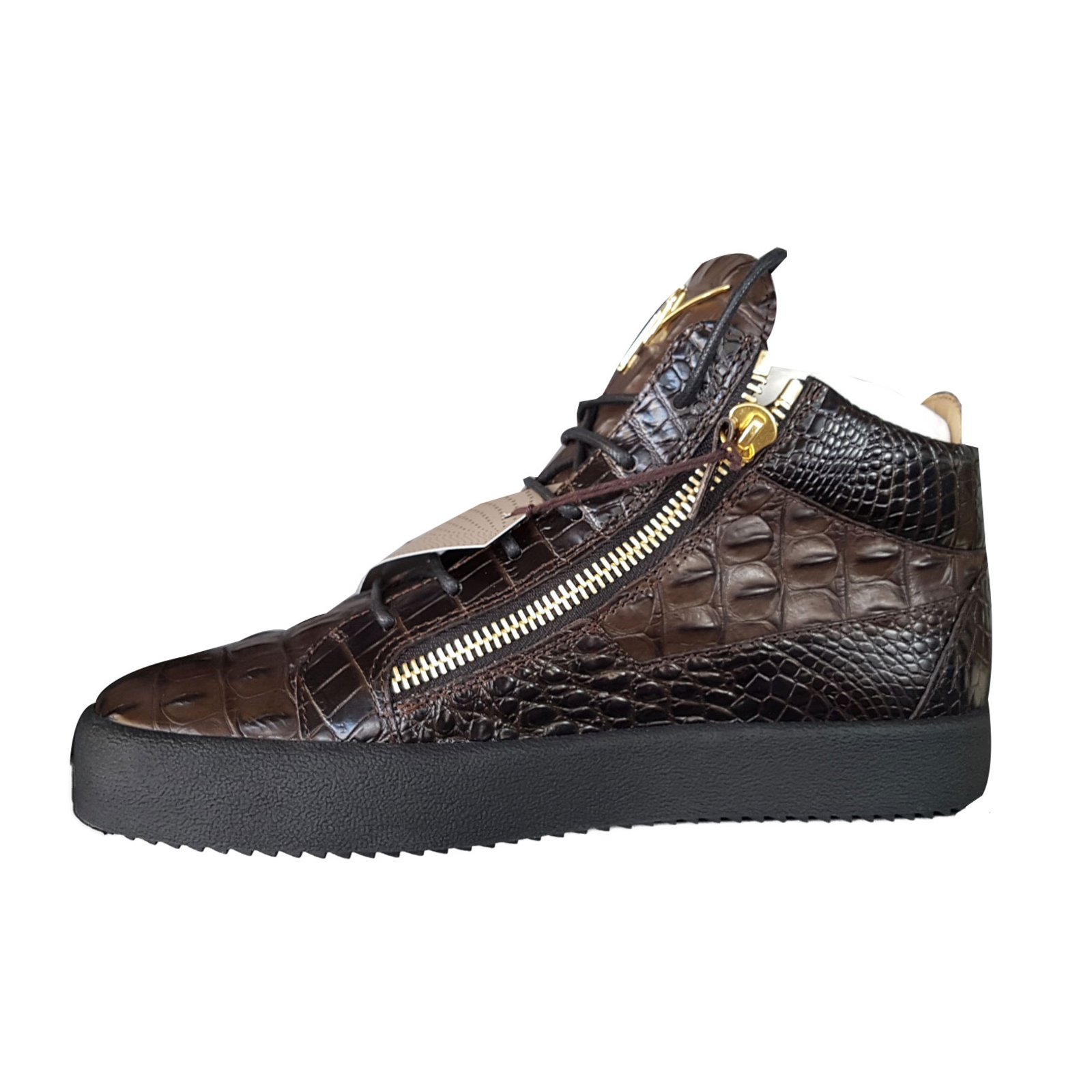 a833e6a04aaab Giuseppe Zanotti SNEAKERS Sneakers Leather Brown ref.69486 - Joli Closet