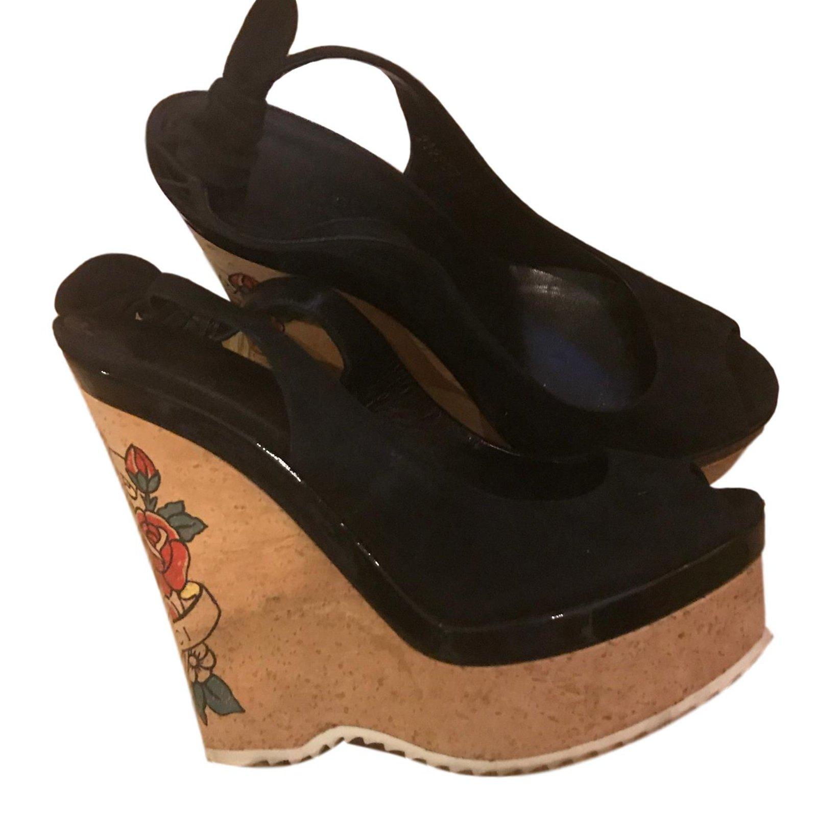 9f1abd5c90c Gucci Sandals Sandals Leather Black ref.69496 - Joli Closet