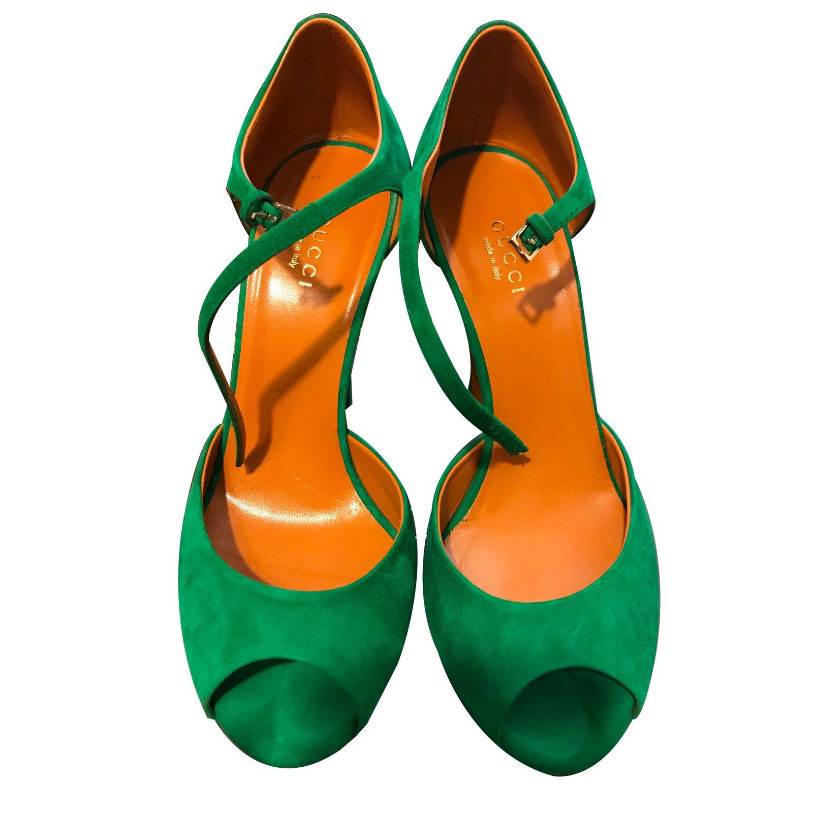 08095d1b8d3 Gucci Sandals Sandals Leather Green ref.69504 - Joli Closet