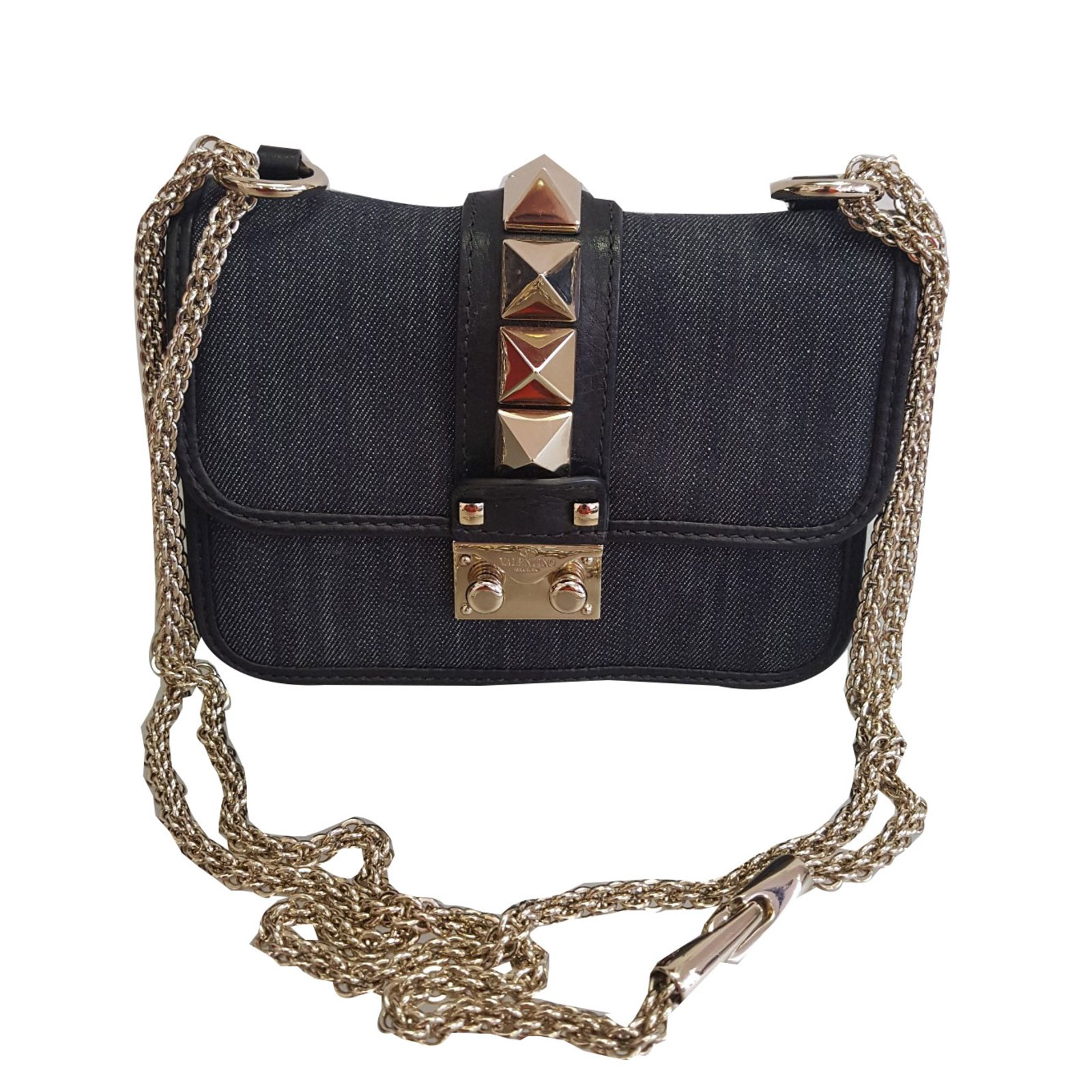 7bd9f17280 Valentino Glam rock Handbags Denim Blue ref.69671 - Joli Closet