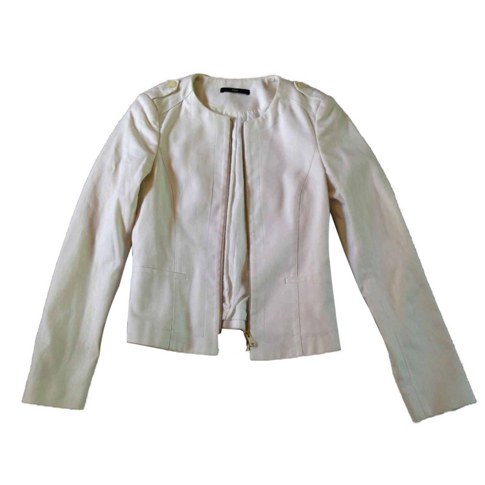 6c9175a81 Hugo Boss Jacket Jackets Cotton White ref.69913 - Joli Closet