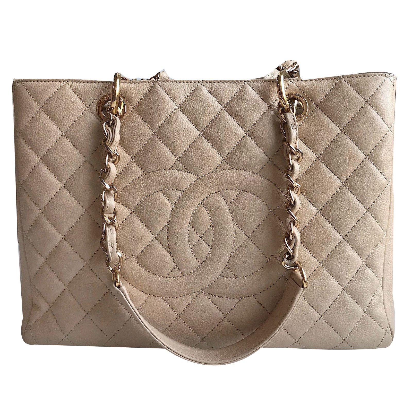 aeb24ef62659 Chanel Chanel GST Grand Shopping Tote Handbags Leather Beige ref.69959