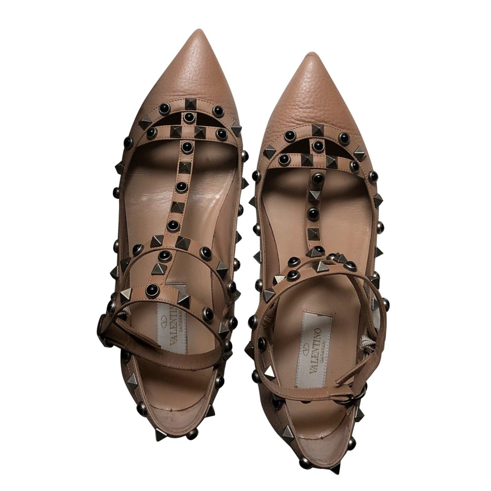 Valentino Rockstud Ballet flats Leather