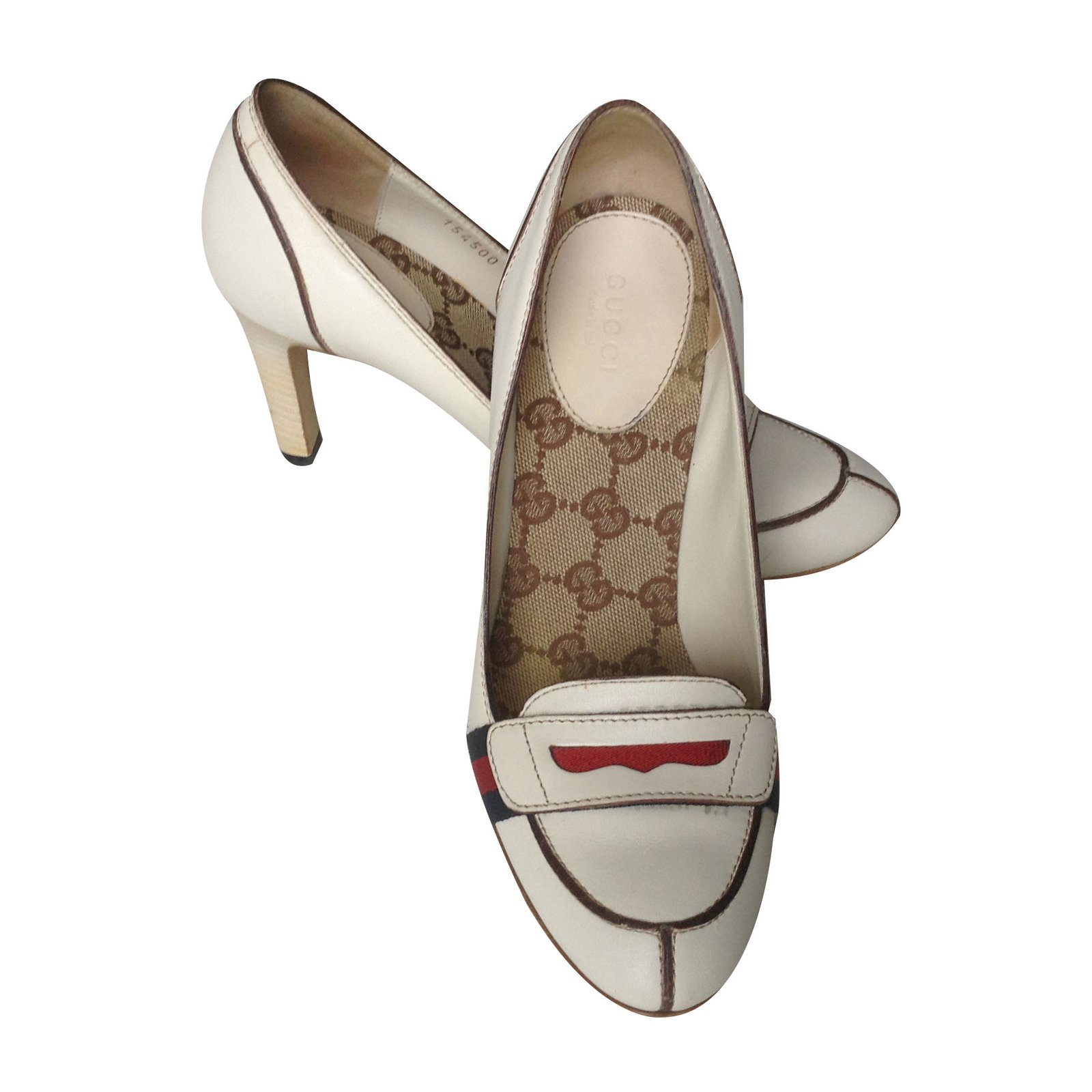 7e1ee131c00 Gucci Loafers Heels Leather Beige ref.70261 - Joli Closet