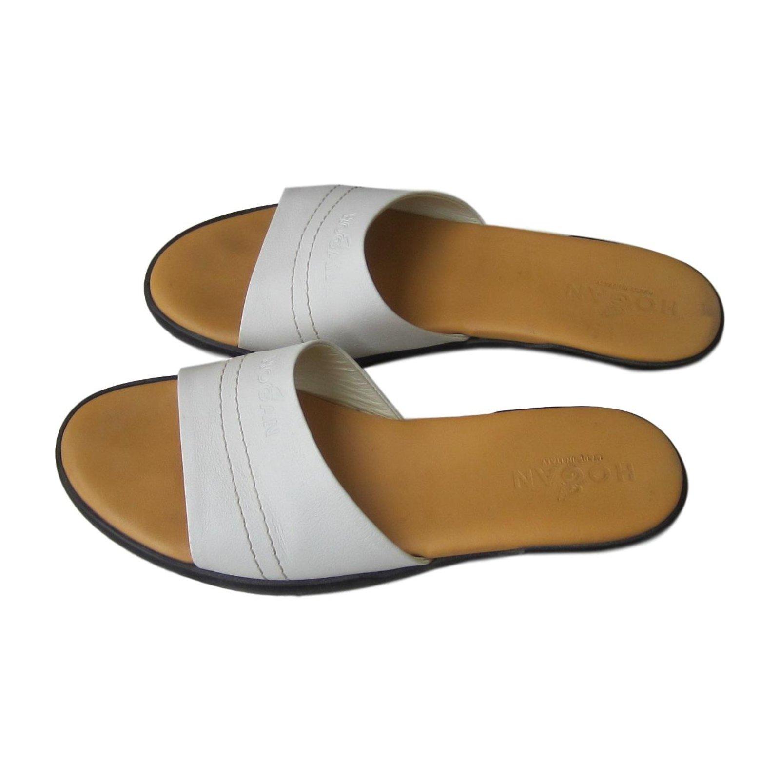 Hogan Mules White Leather ref.70300 - Joli Closet