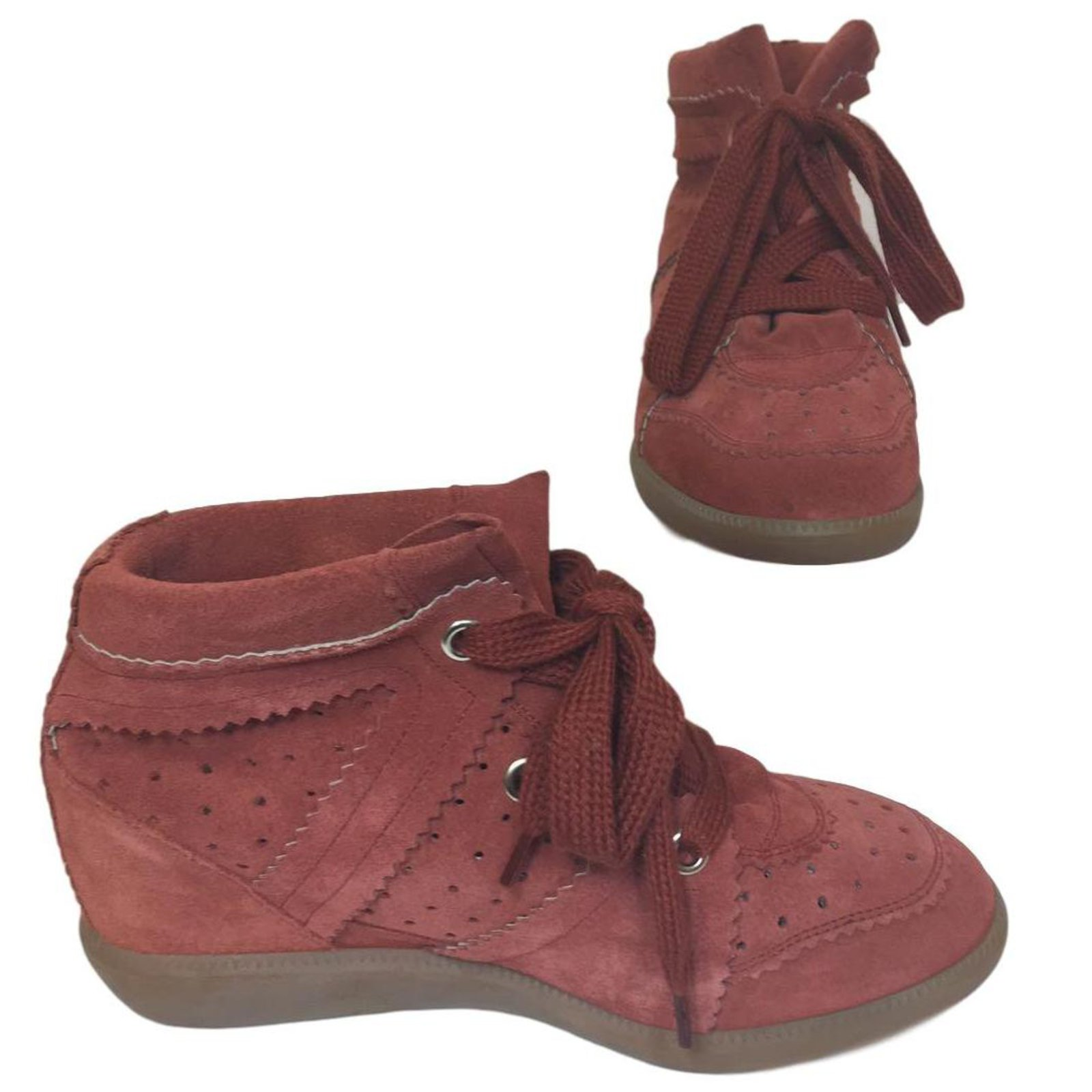080c29b7d9 Isabel Marant Bobby Sneakers Leather,Velvet Other ref.70374 - Joli ...