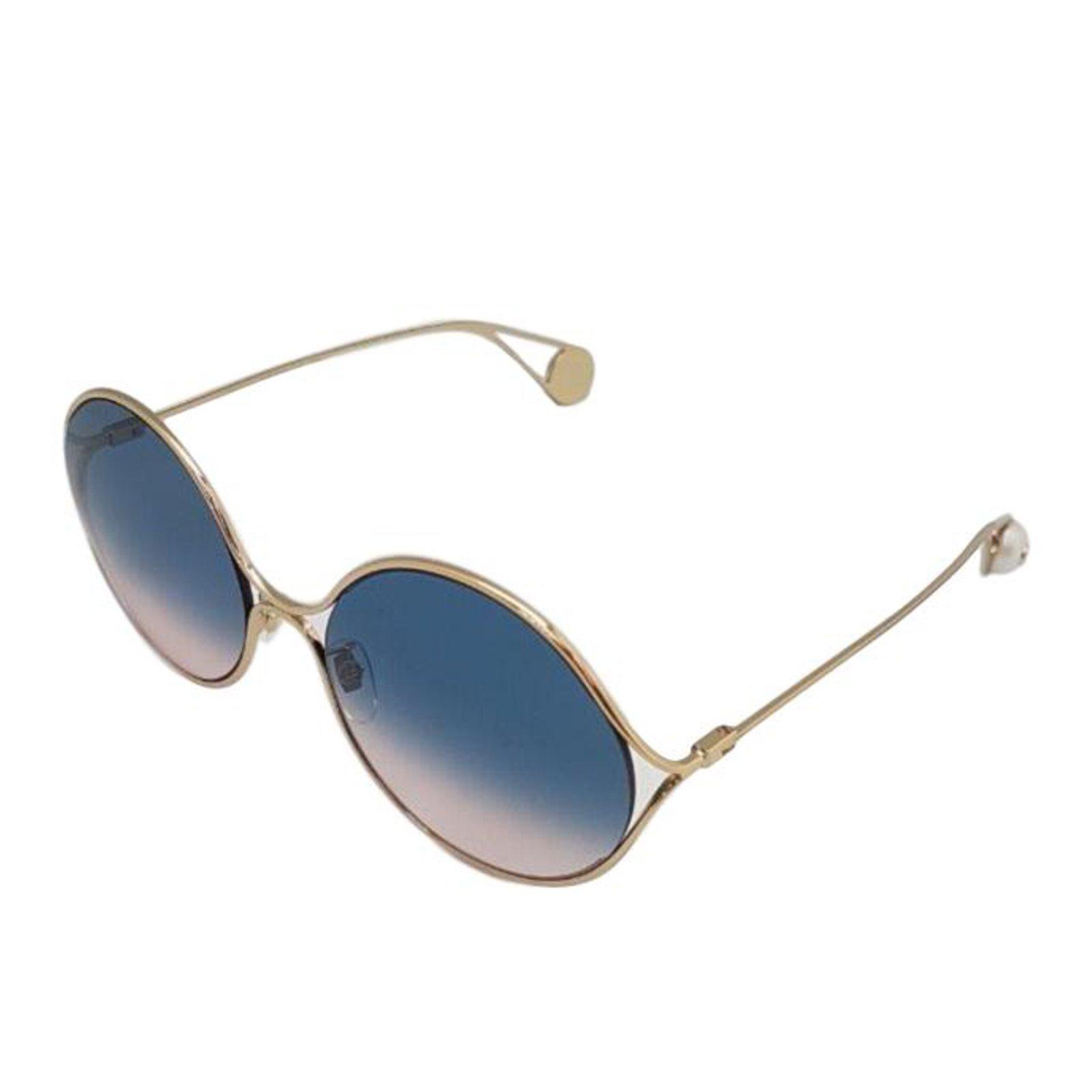 22251ae5cbd53 Lunettes Gucci lunettes ronde en metal collection été 2018 Métal Doré  ref.70417