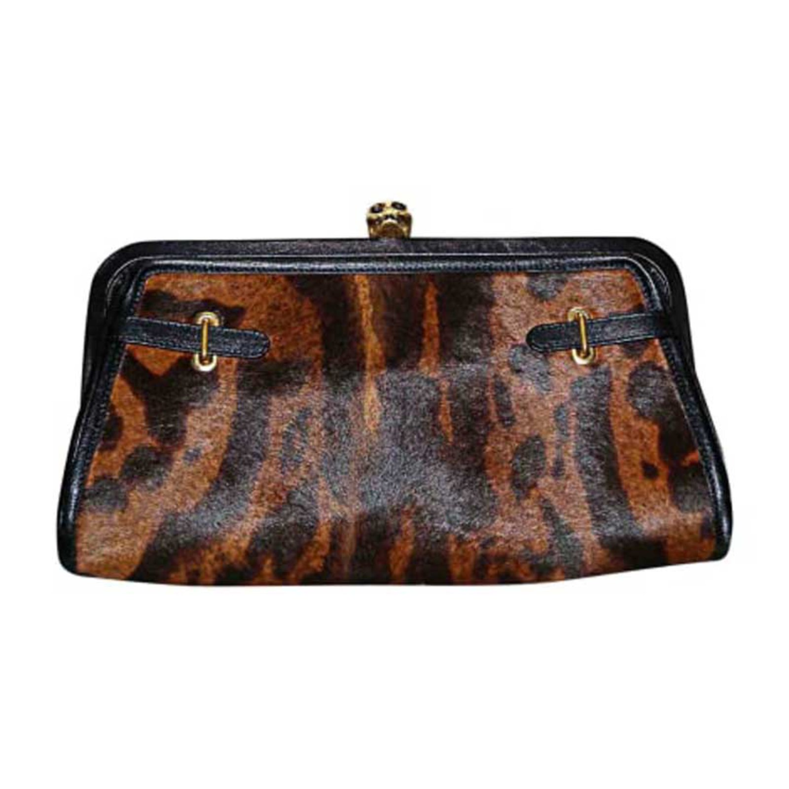 Alexander Mcqueen Clutch bags Clutch bags Leather Brown ...