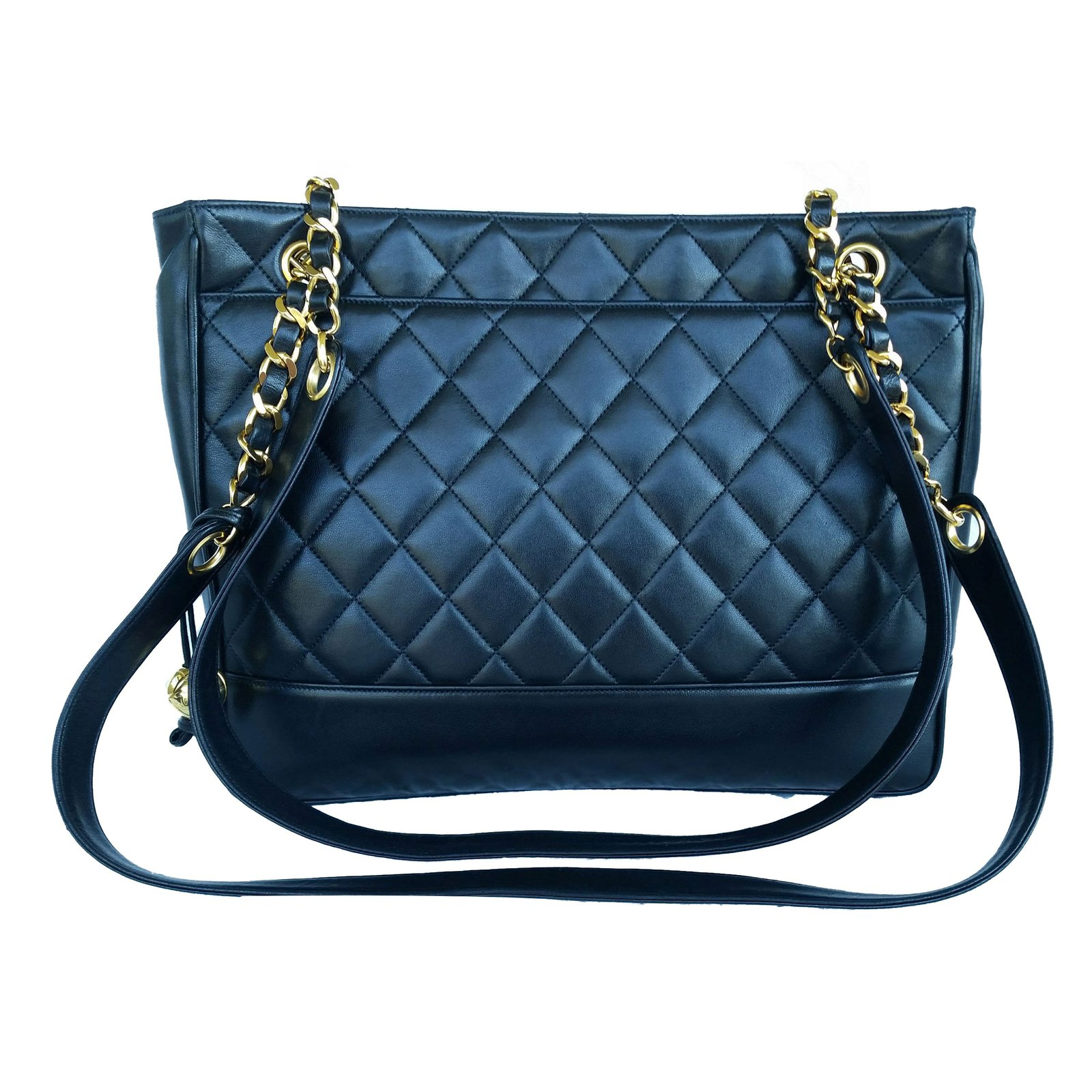 68cc36f3c2 Sacs à main Chanel Sac à main Cuir Noir ref.70659 - Joli Closet