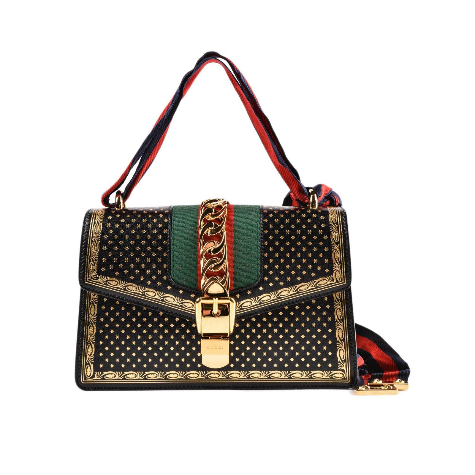 dd781690fdbd Sacs à main Gucci Sylvie Cuir Noir ref.70736 - Joli Closet