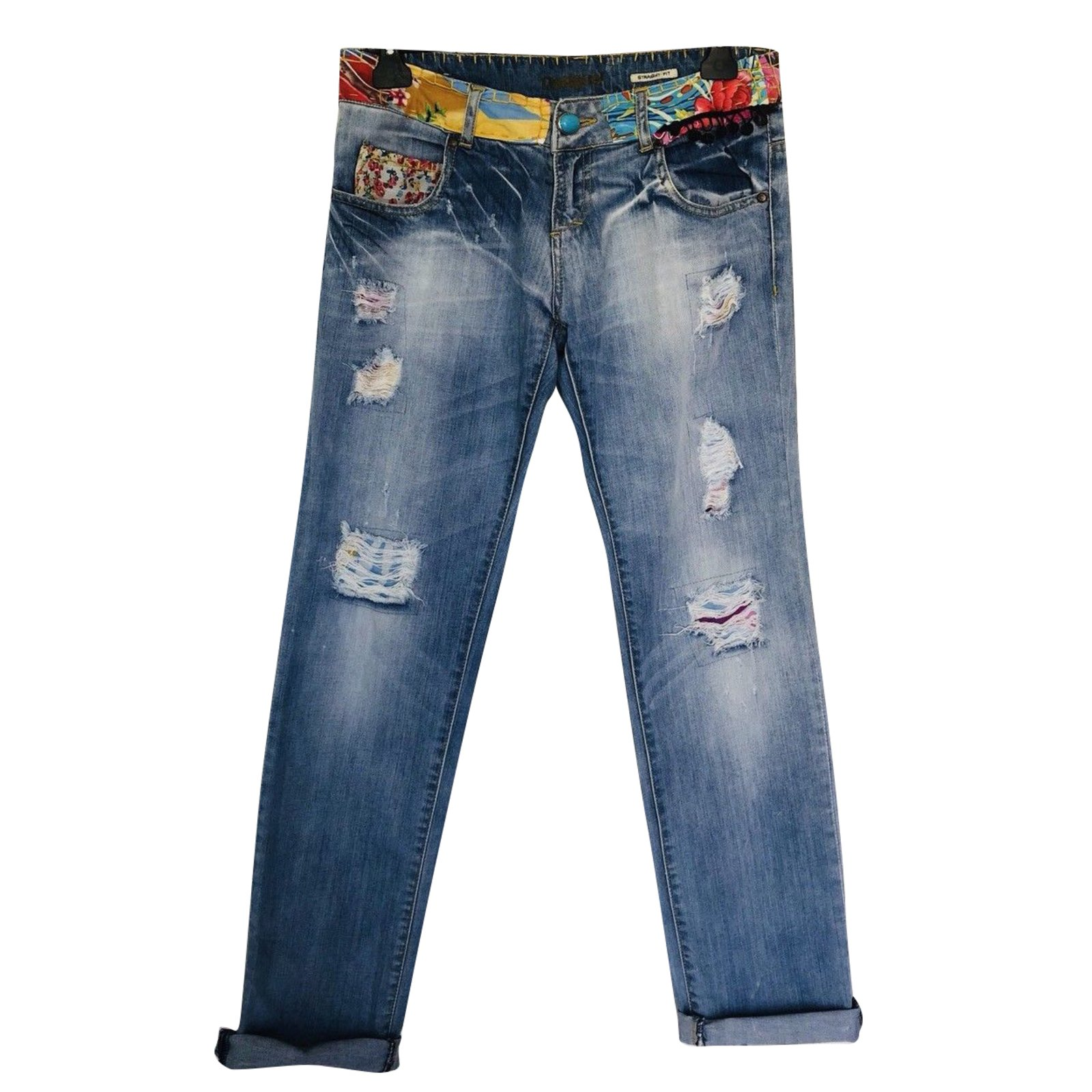 Jeans Femme Denim M Bleus Desigual UpVqzSM