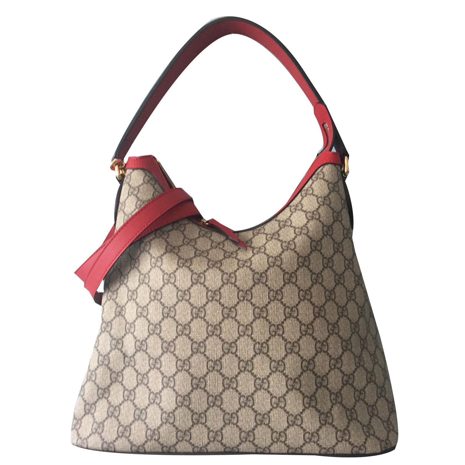 daeb4b41626c Gucci Supreme Hobo Totes Leather Beige ref.71226 - Joli Closet