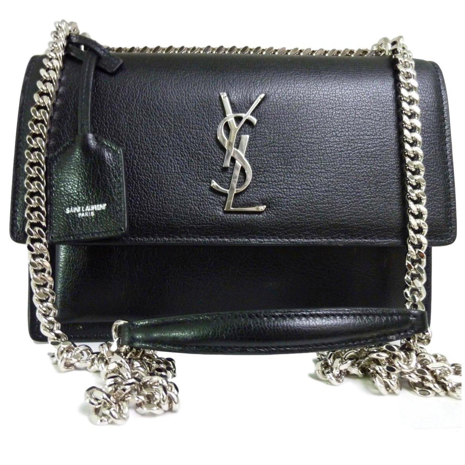 507cb745e56 Yves Saint Laurent Sunset Bag Handbags Leather Black ref.71264 ...