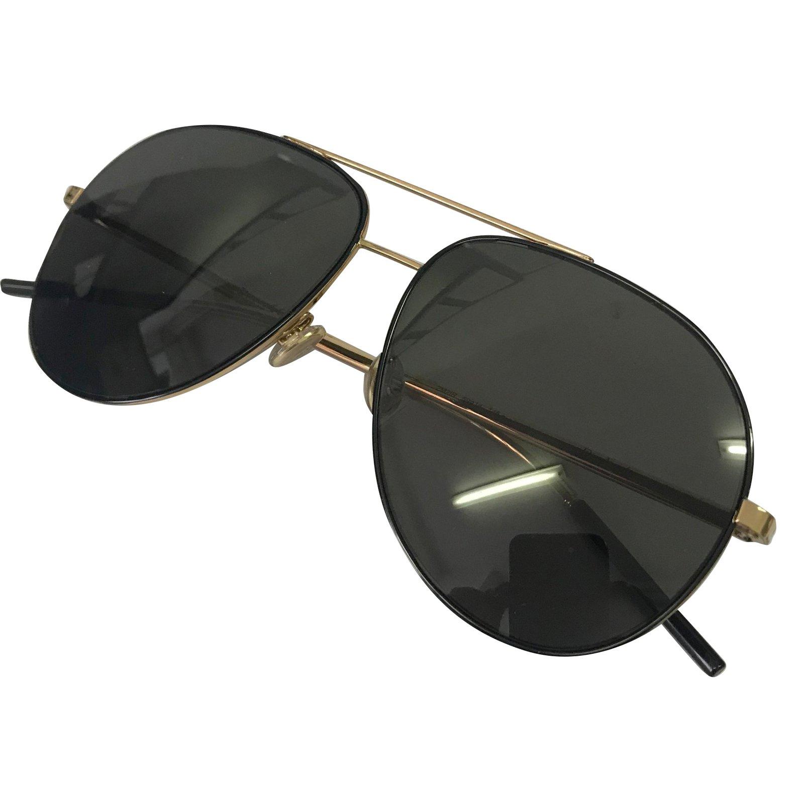 25ac08c4880e9a 71421 71421 Ref Lunettes doré Homme Homme De Soleil Noir Métal Dior 0w4qfS08