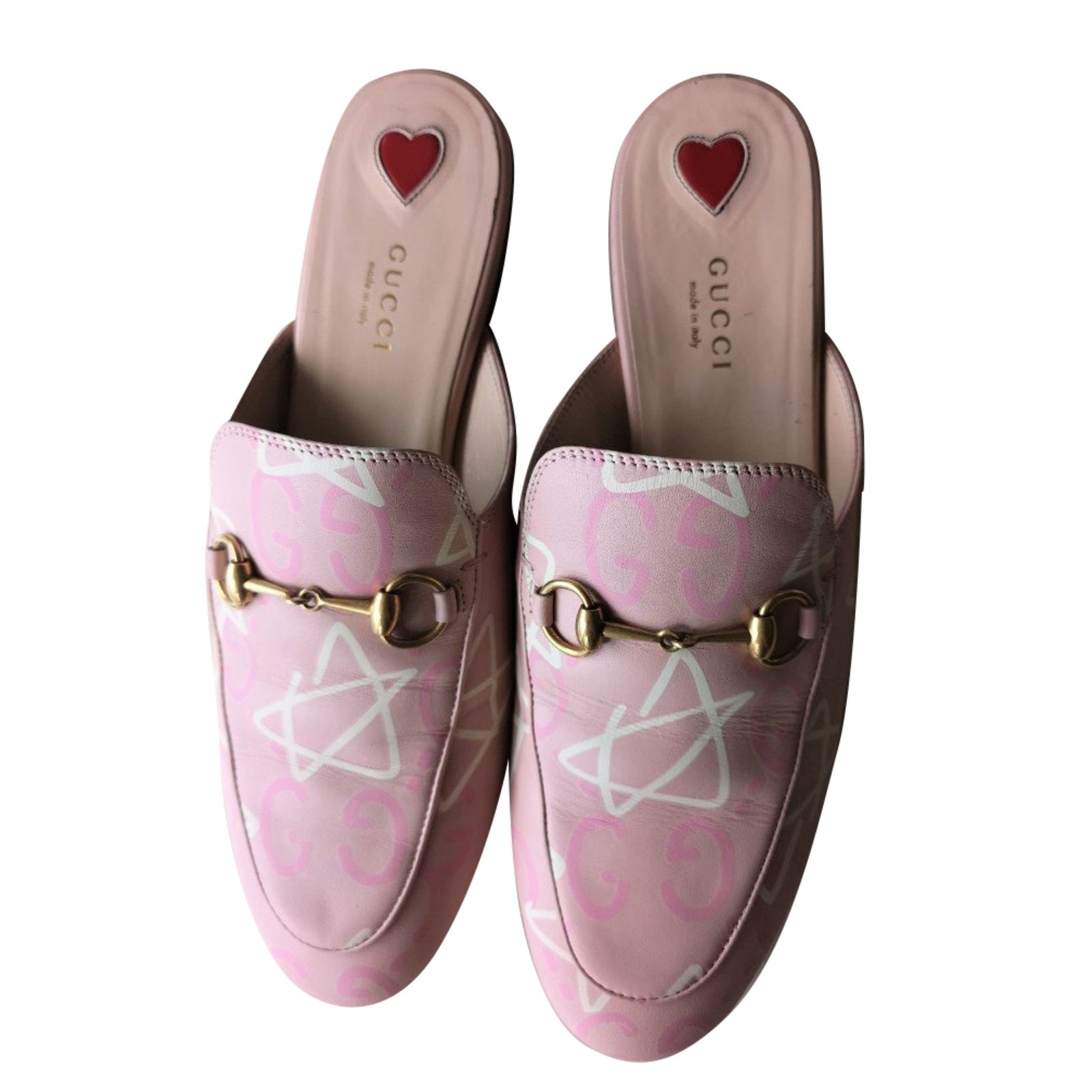 Gucci Princetown Pink Limited Japan Edition Flats Mules Leather Pink  ref.71456 f07cba412500
