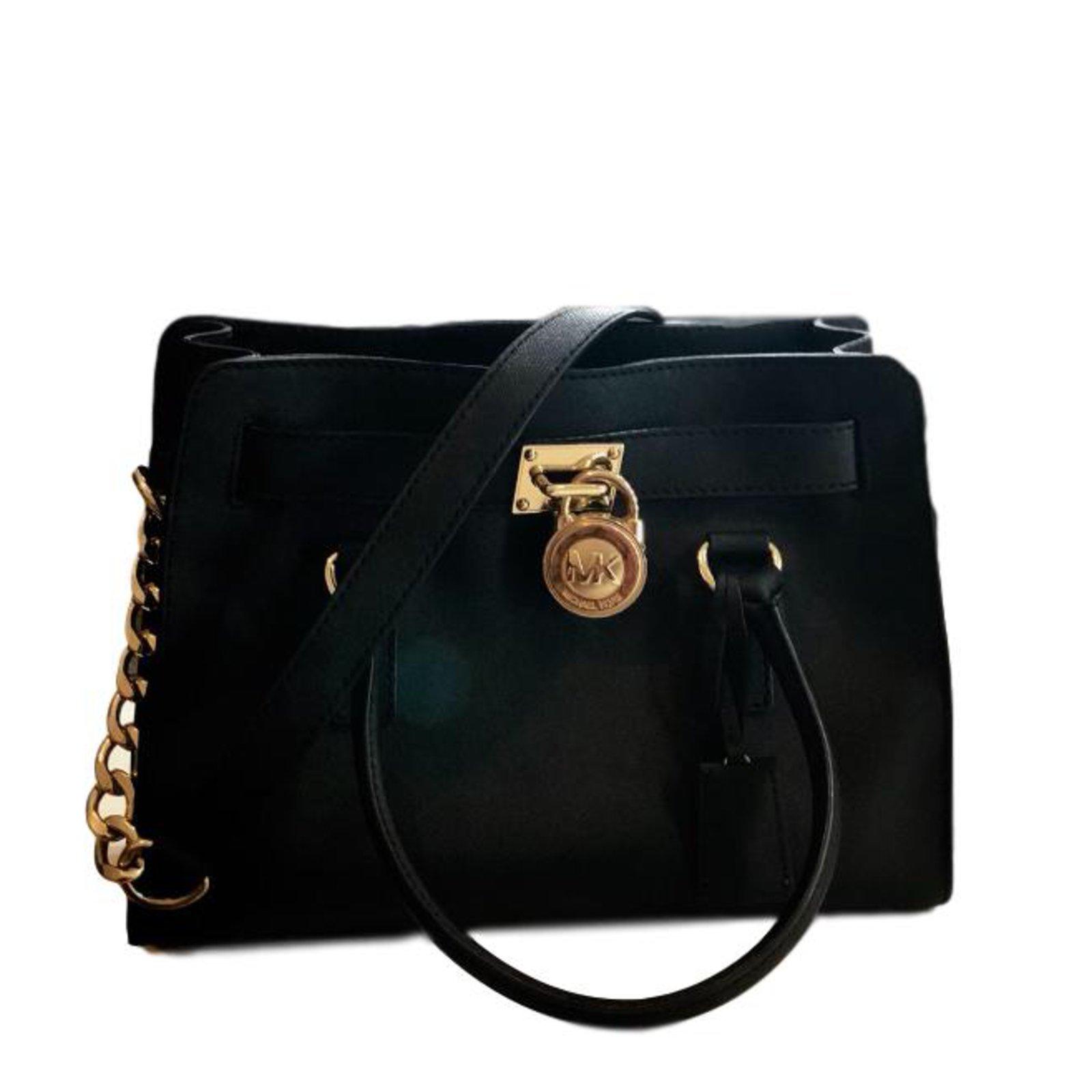 Sac à Main Leather Bag Michael Kors Hamilton Medium Size En