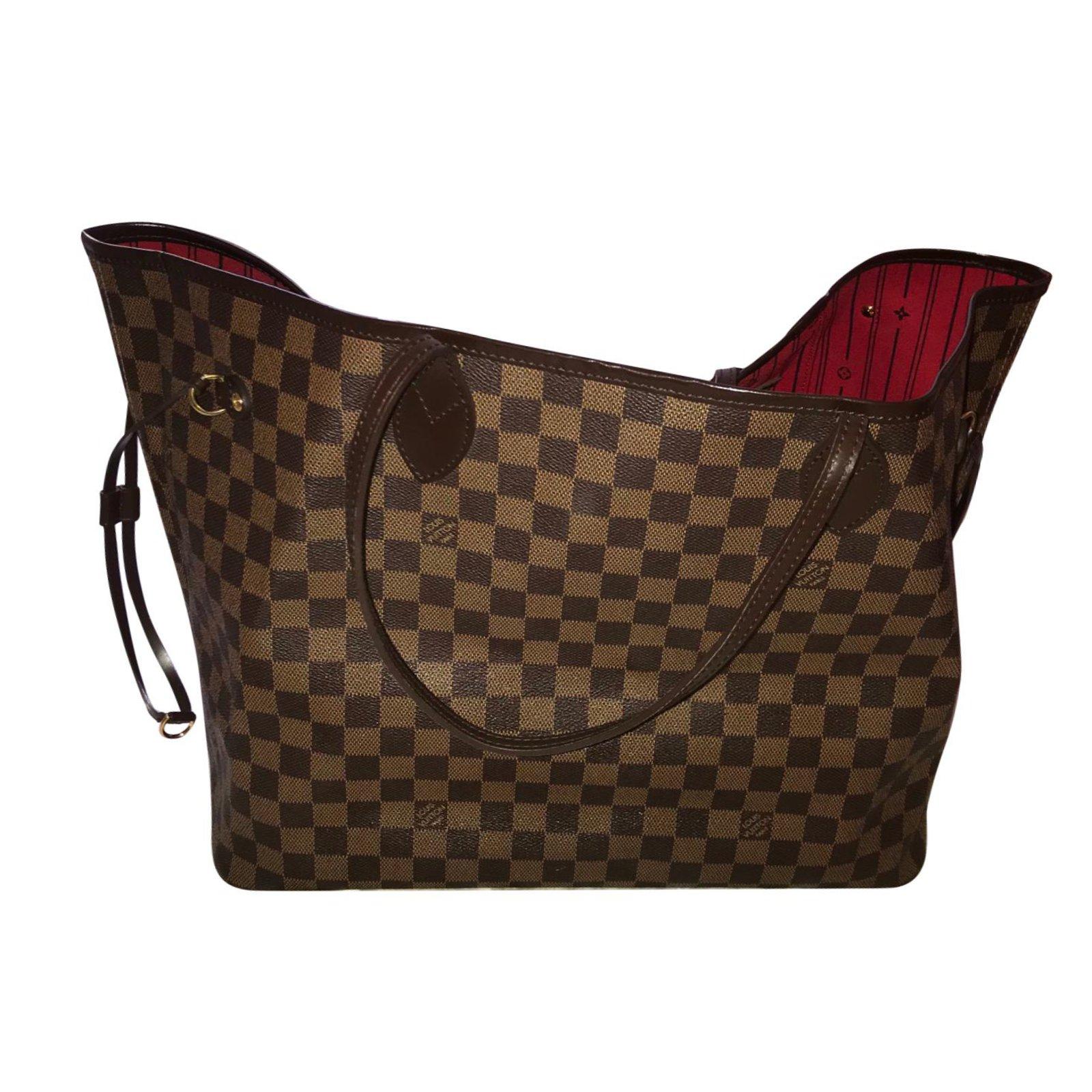 41f7c526e684 ... Sacs à main Louis Vuitton Neverfull GM Cuir Marron ref.71541 ...