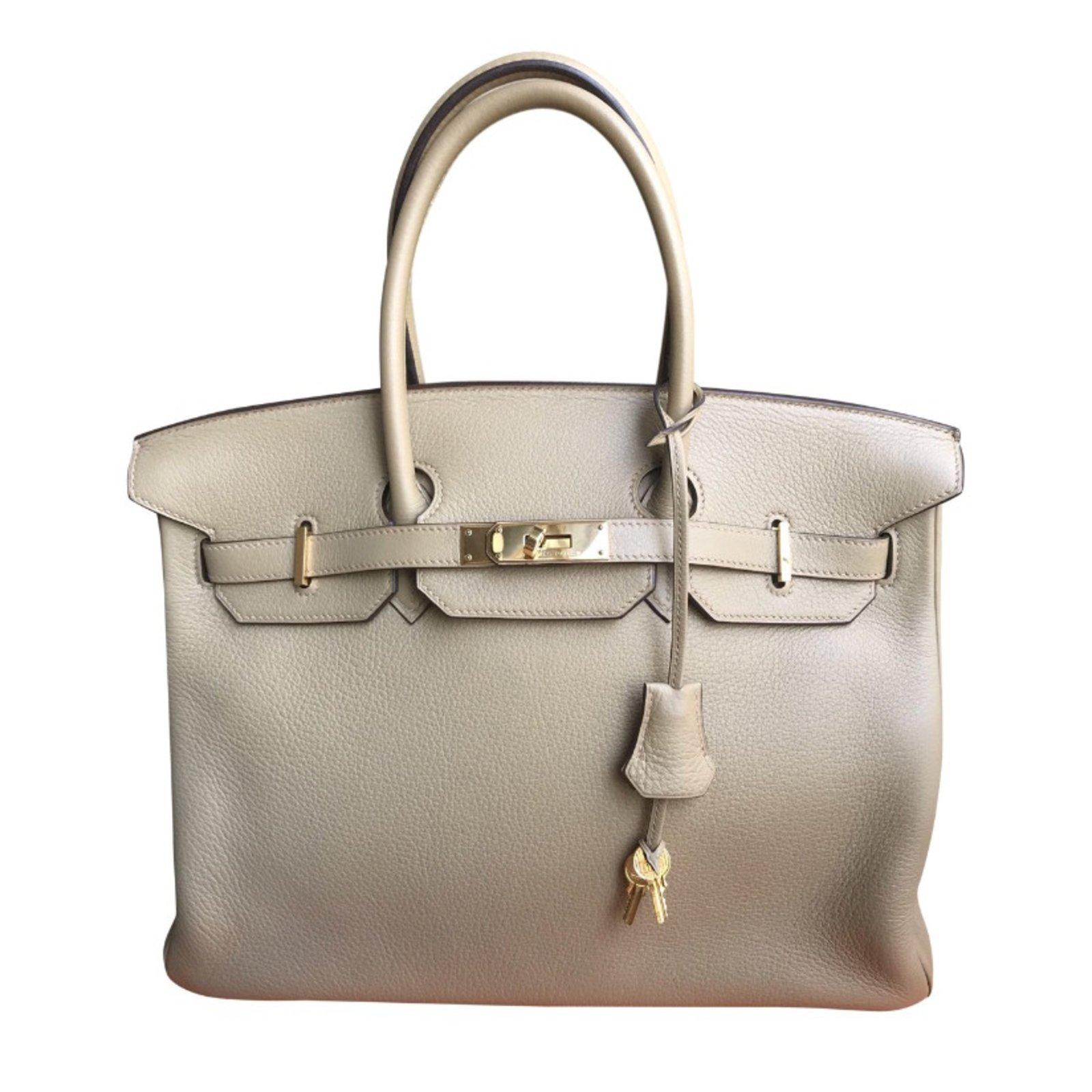 Sacs à main Hermès Birkin 35 cuir clémence Cuir Beige ref.71636 ... eaccf89ed4f