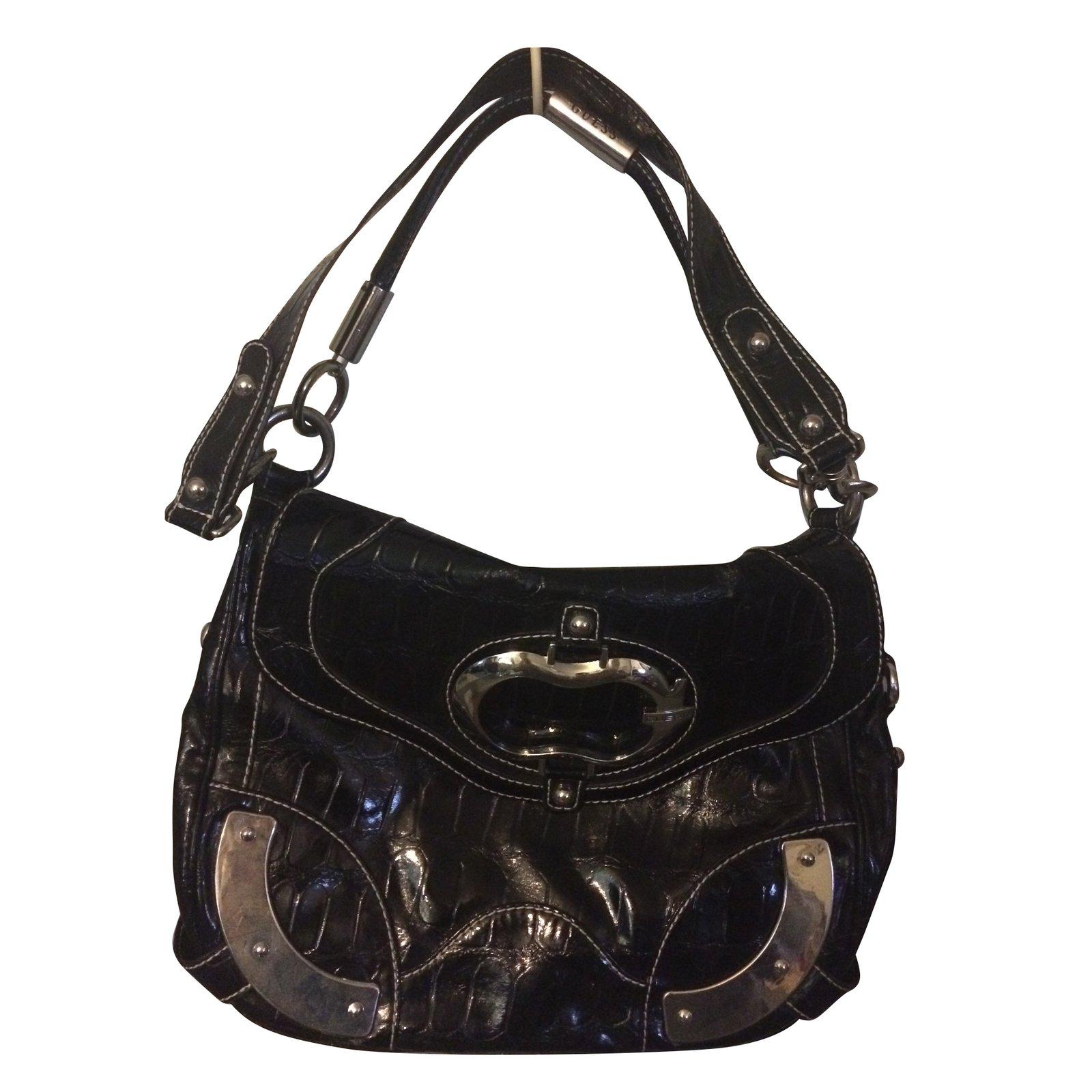 Guess Bag Handbags Leather Black Ref 71837 Joli Closet