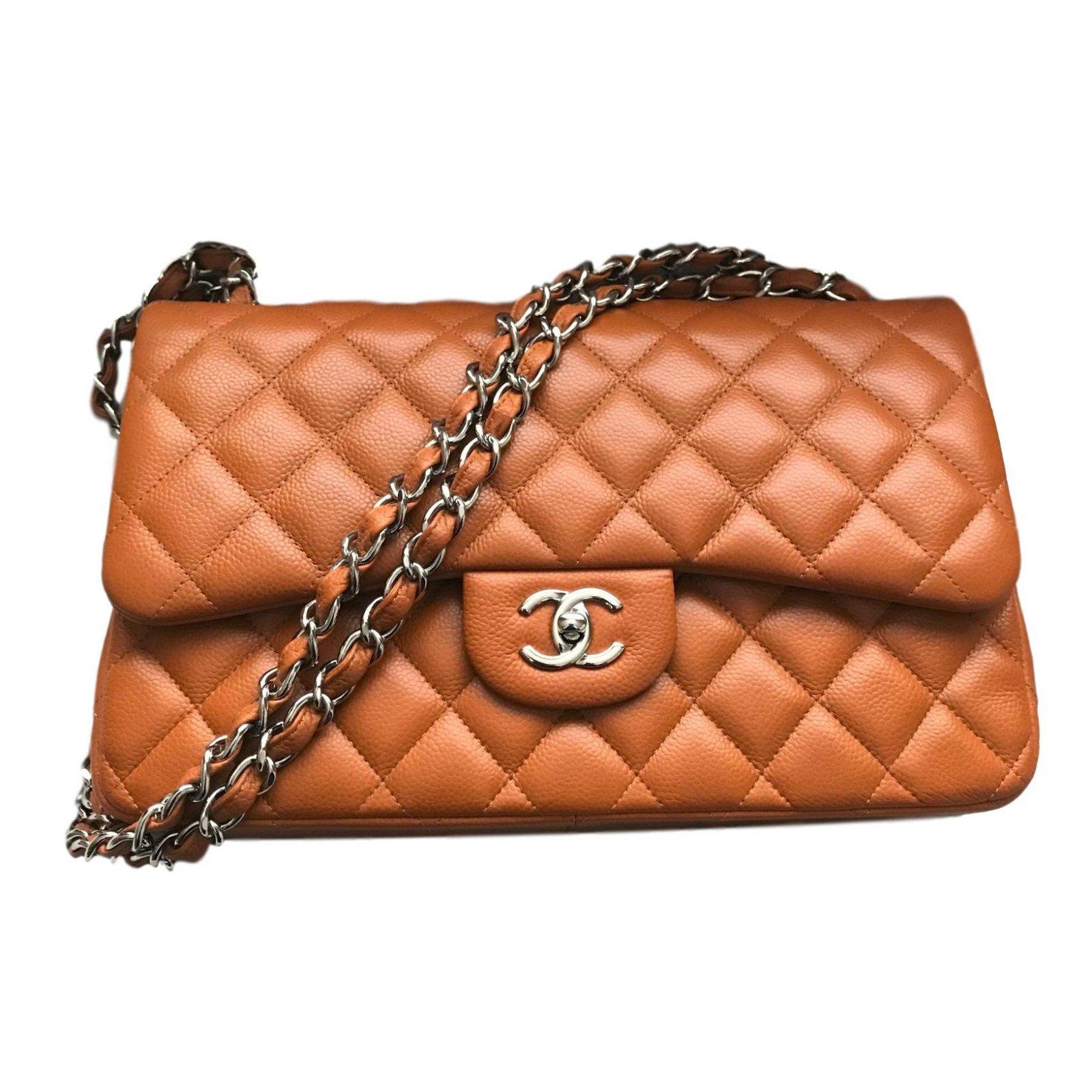 e72346d7978b Chanel Chanel Jumbo Timeless Classic lined Flap Bag - Caviar leather - Rich Caramel  Handbags Leather