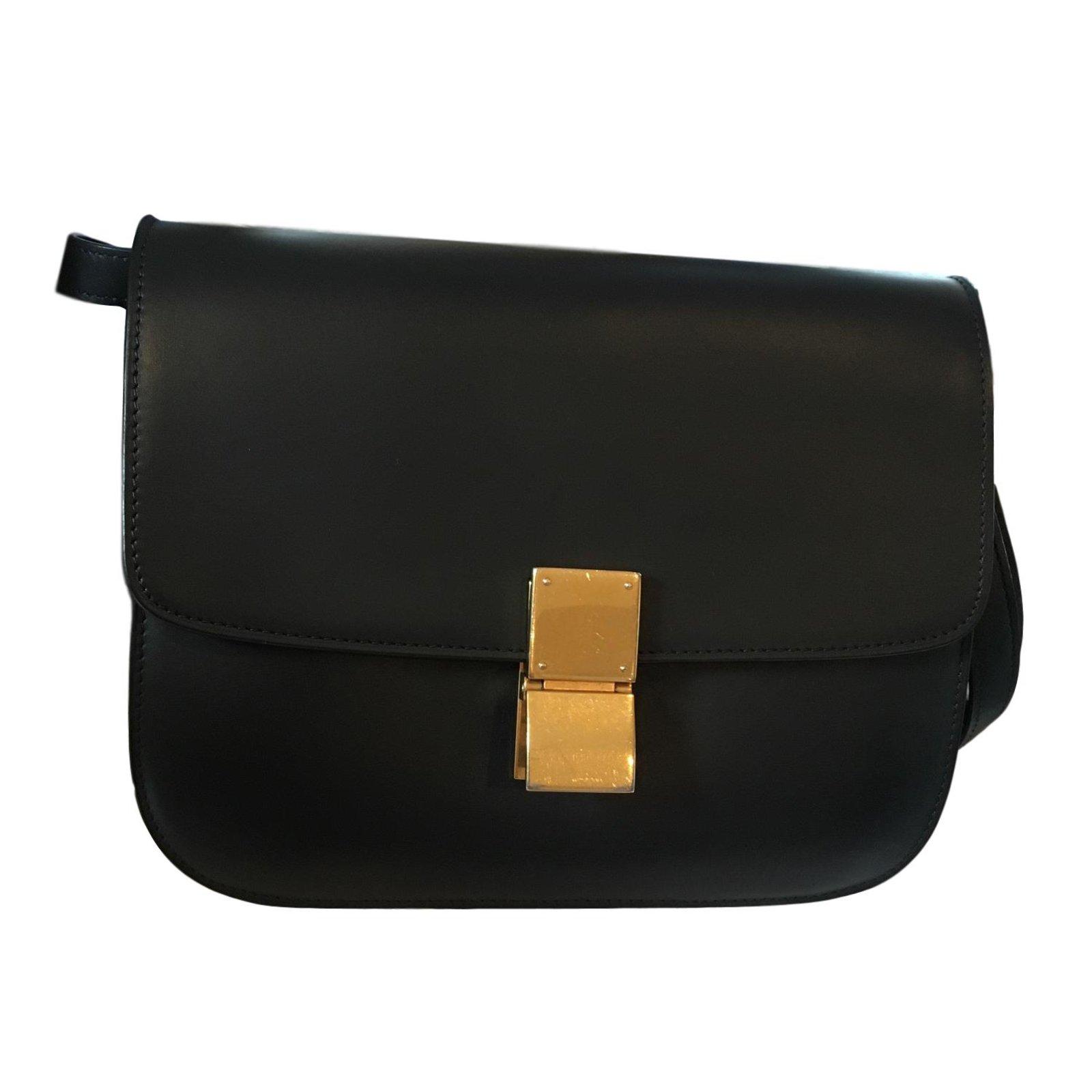 6d17568e9dcbf6 Céline Classic Box Handbags Leather Black ref.71992 - Joli Closet