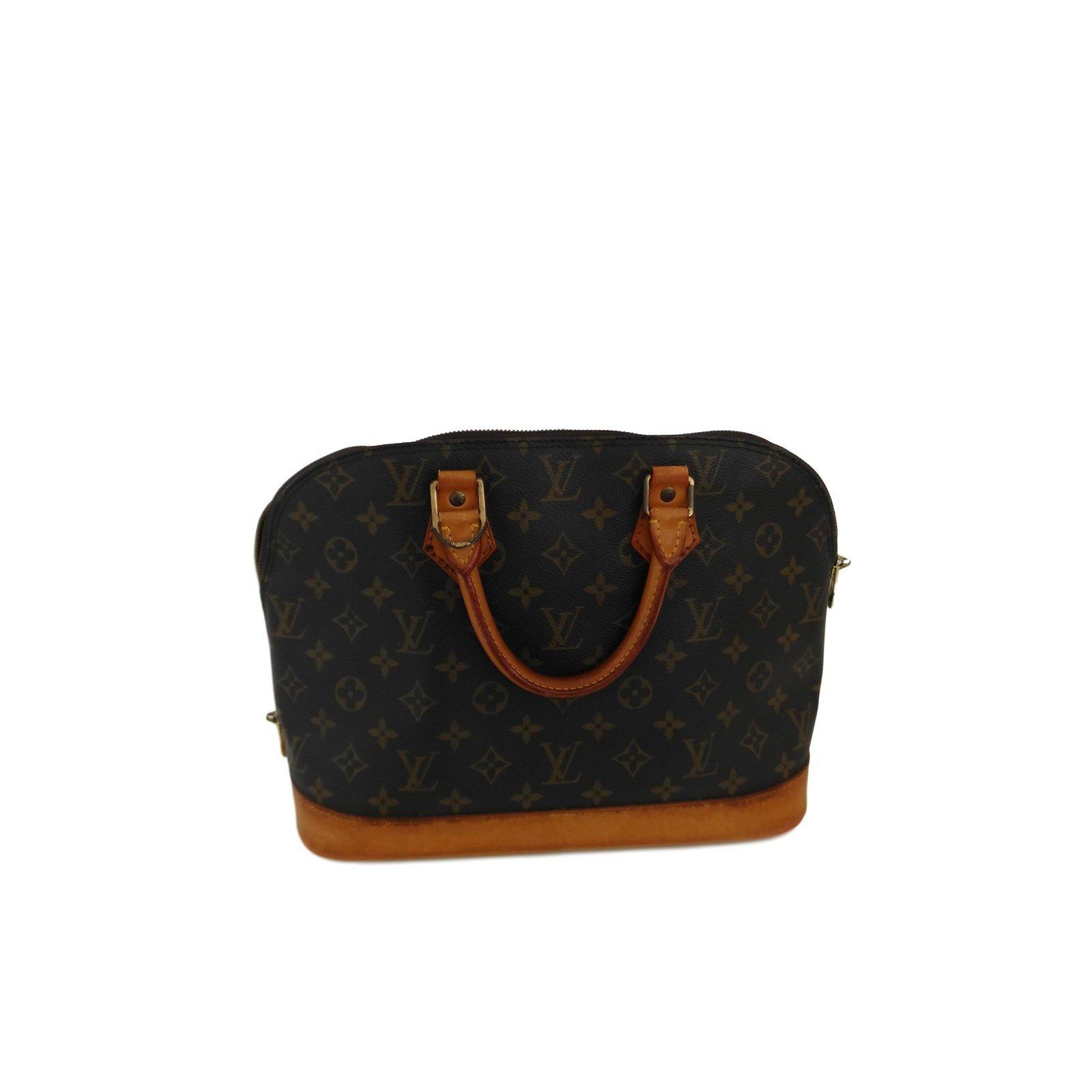 Louis Vuitton Alma Handbags Leather Brown Ref 71993