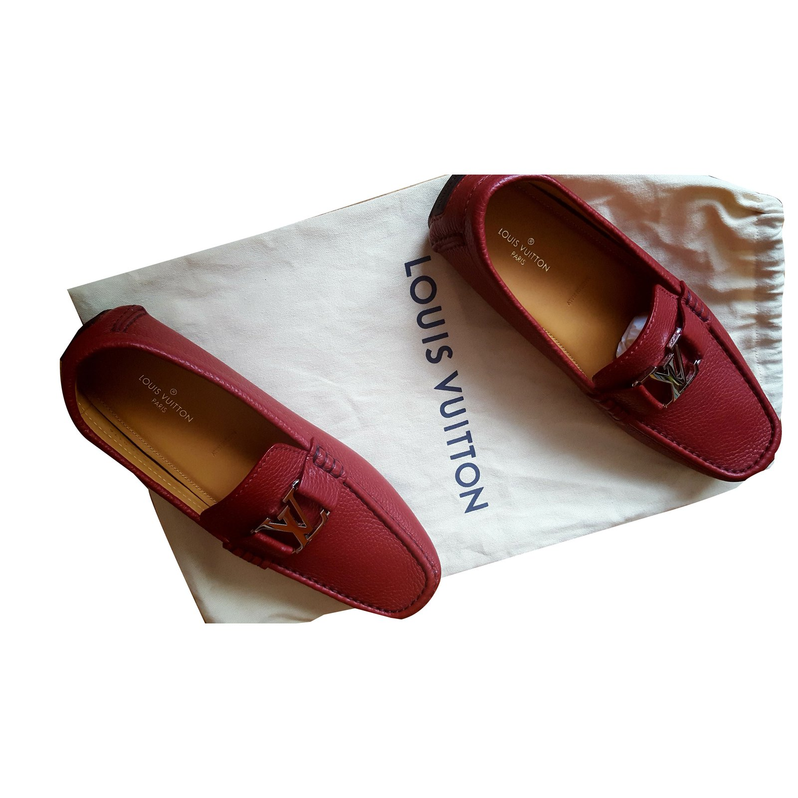 390053212ad0 ... Louis Vuitton Loafers Loafers Slip ons Leather Dark red ref.72298  Brown  ...