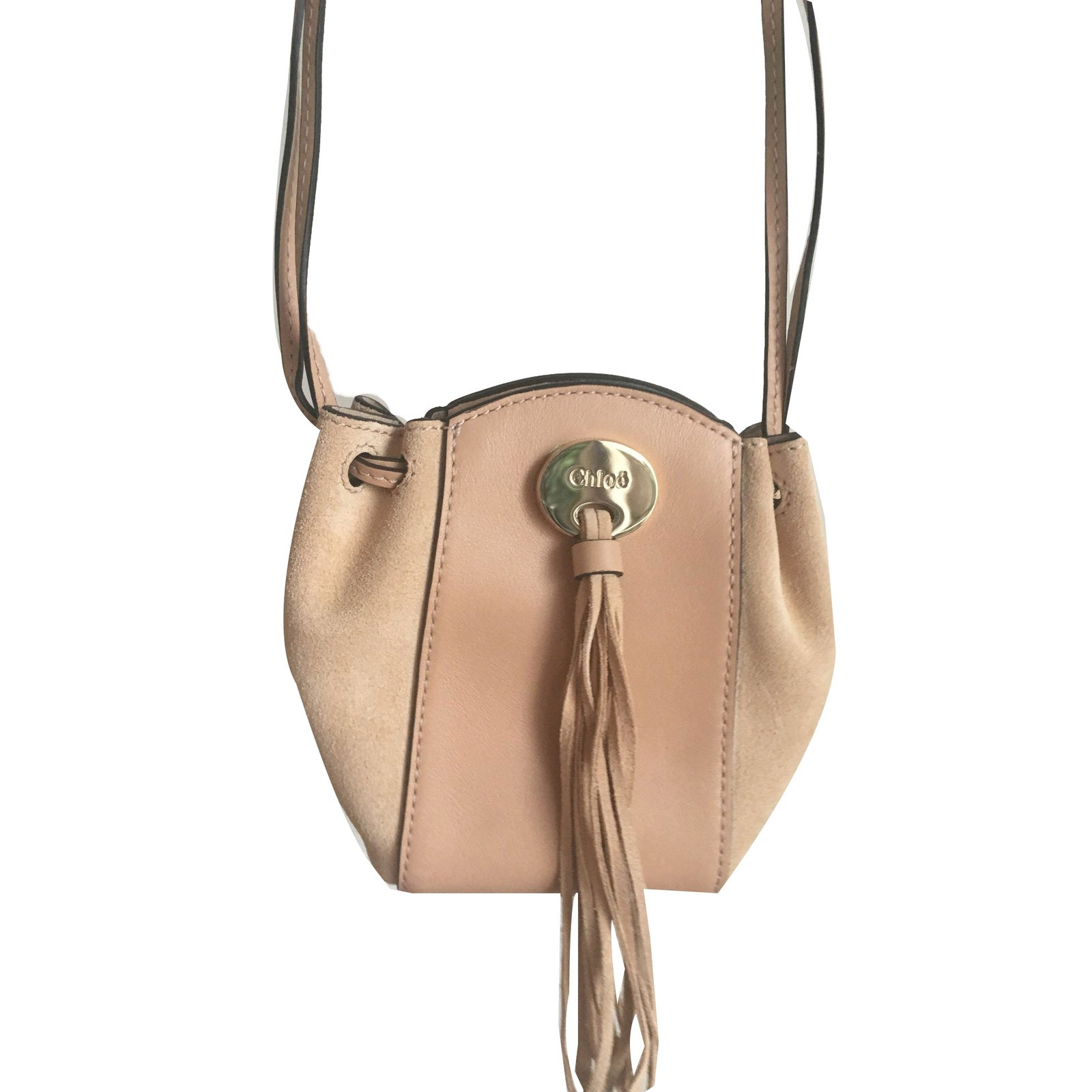 4a82ad688 Chloé Mini bag Handbags Leather Beige ref.72353 - Joli Closet