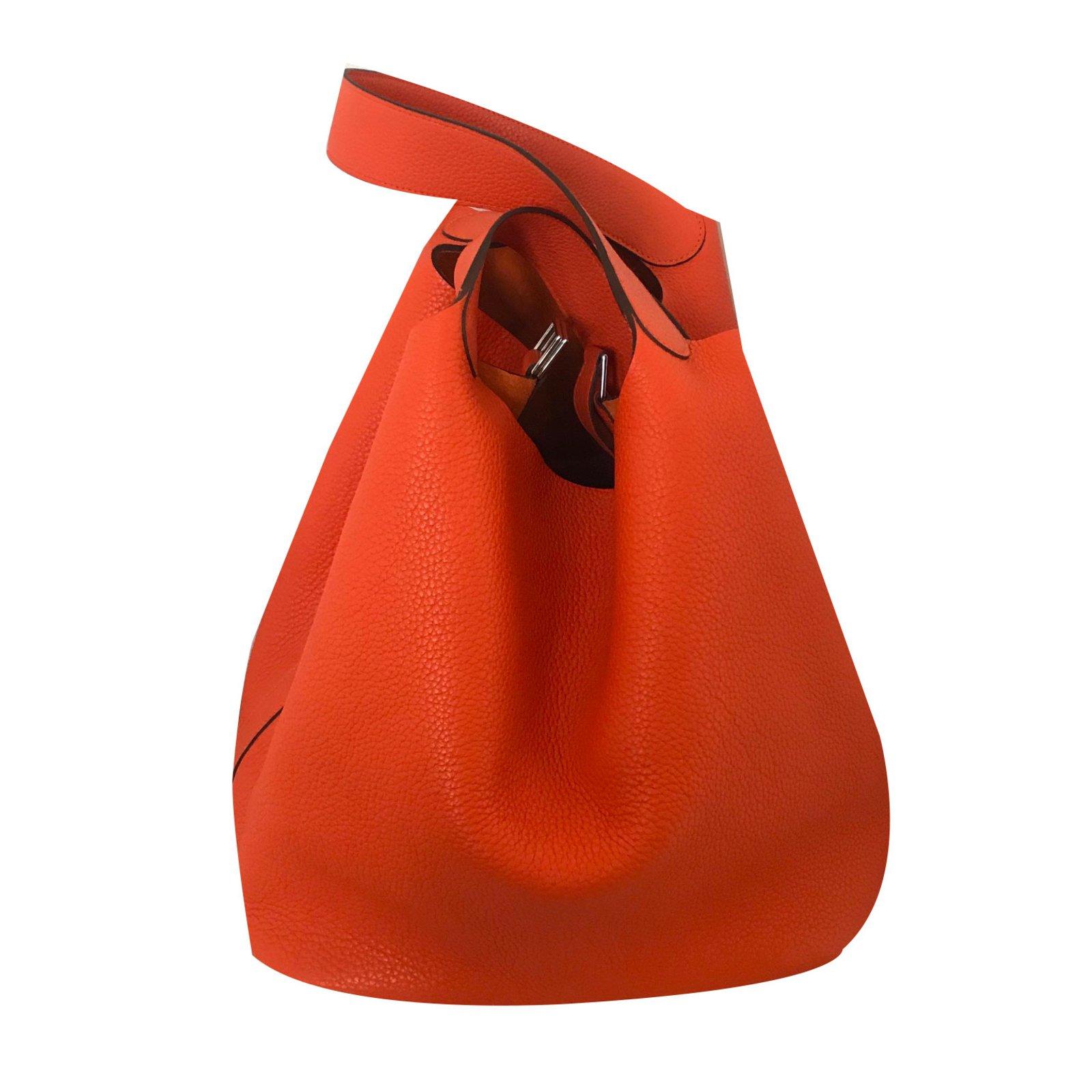 6e9c20433c Sacs à main Hermès Picotin Lock 31 Cuir Orange ref.72664 - Joli Closet