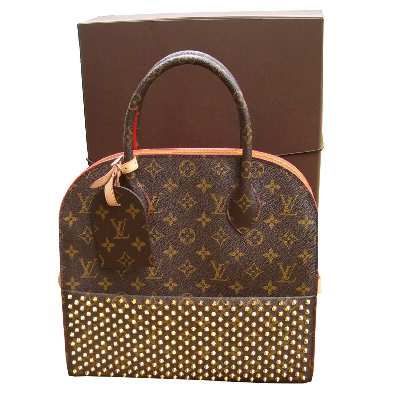Sacs à main Louis Vuitton shopping bag Cuir Multicolore ref.72683 ... e1542eee45c