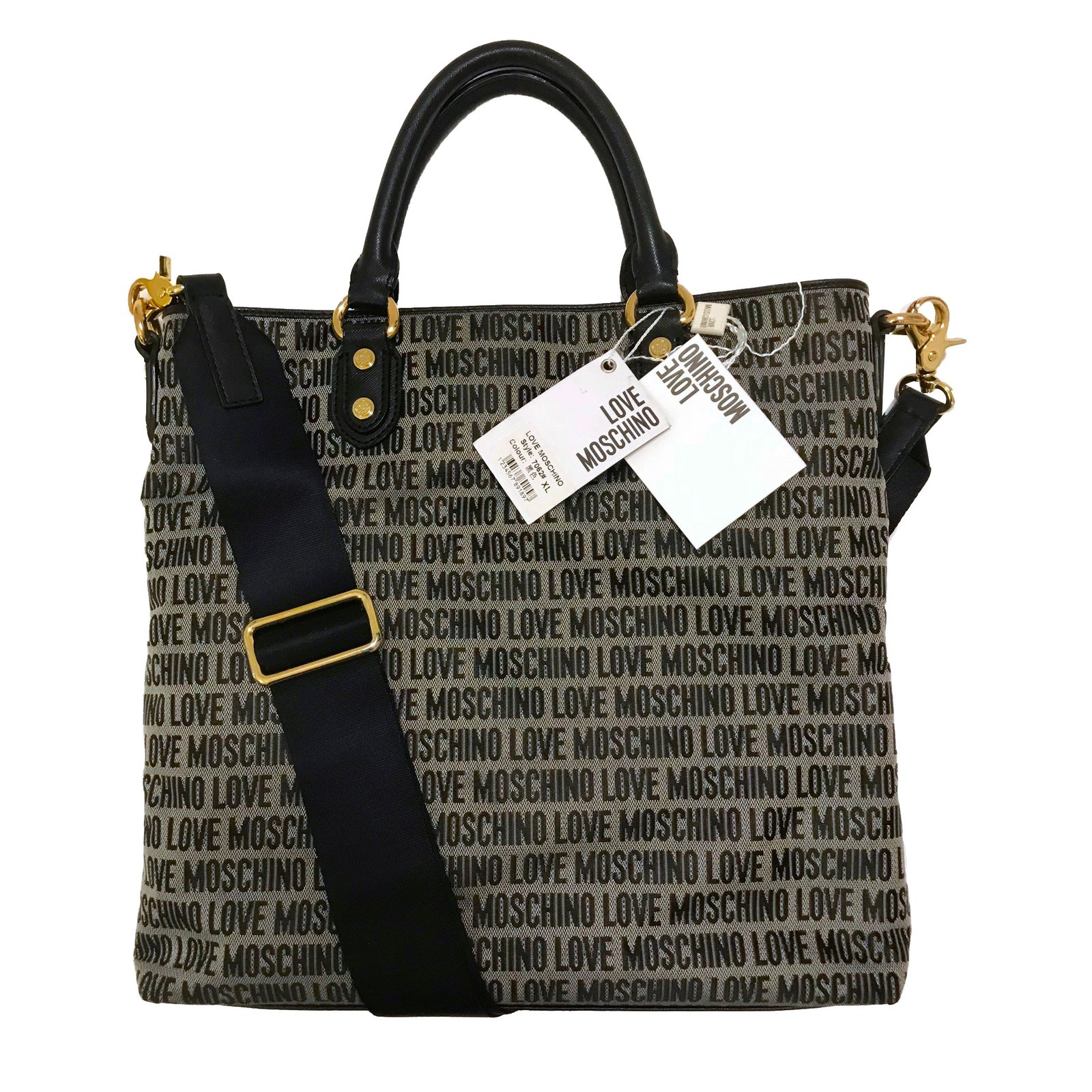 717e734ca96d Love Moschino tote bag with the strap Handbags Cloth Grey ref.72686 ...