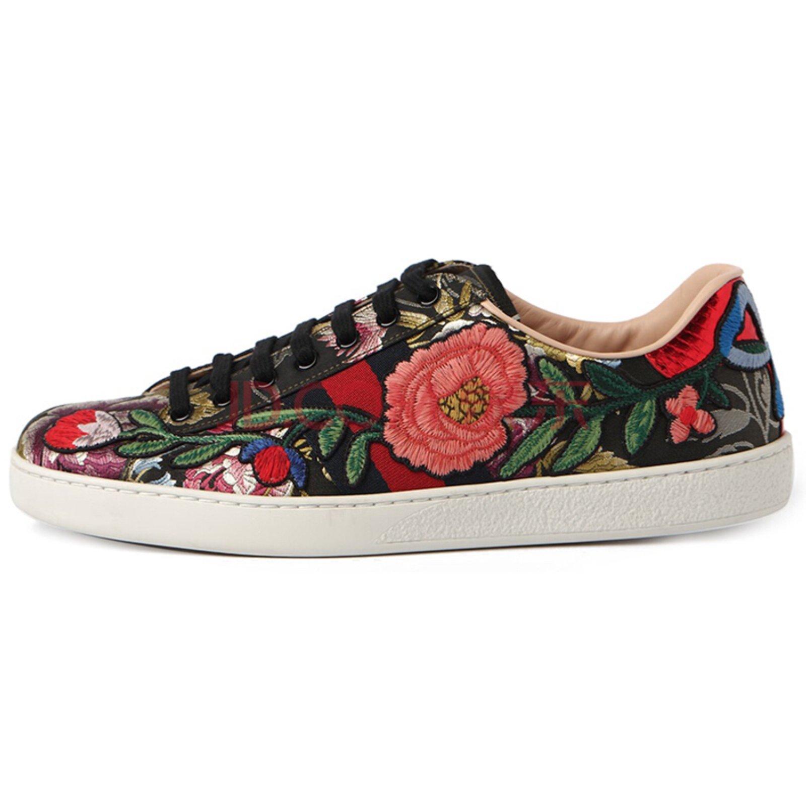 Gucci gucci sneakers flowers new 41 eu