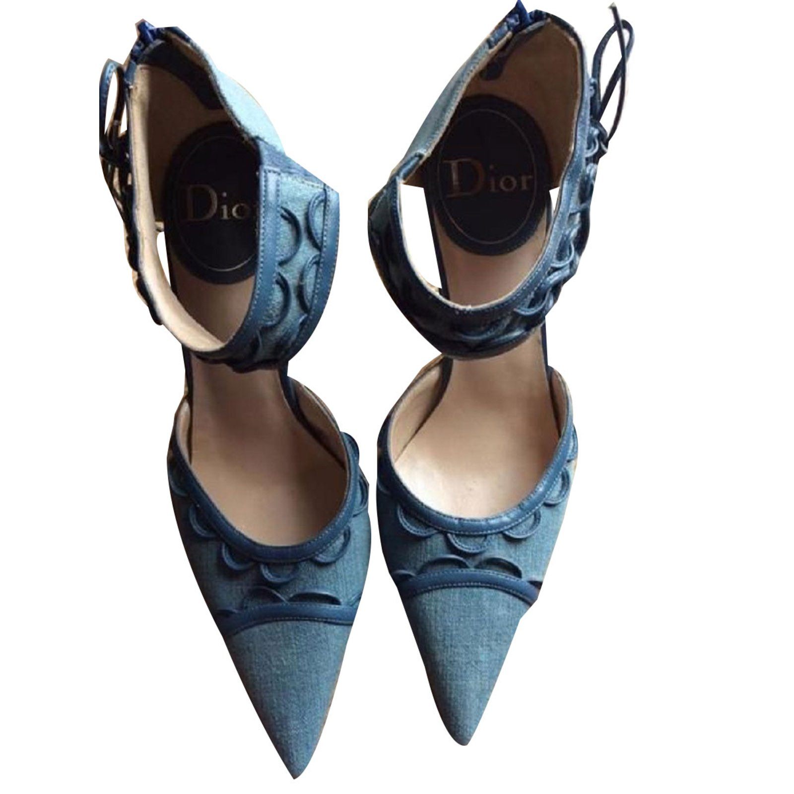 0f9935f766c Christian Dior Pumps Heels Denim Blue ref.73022 - Joli Closet