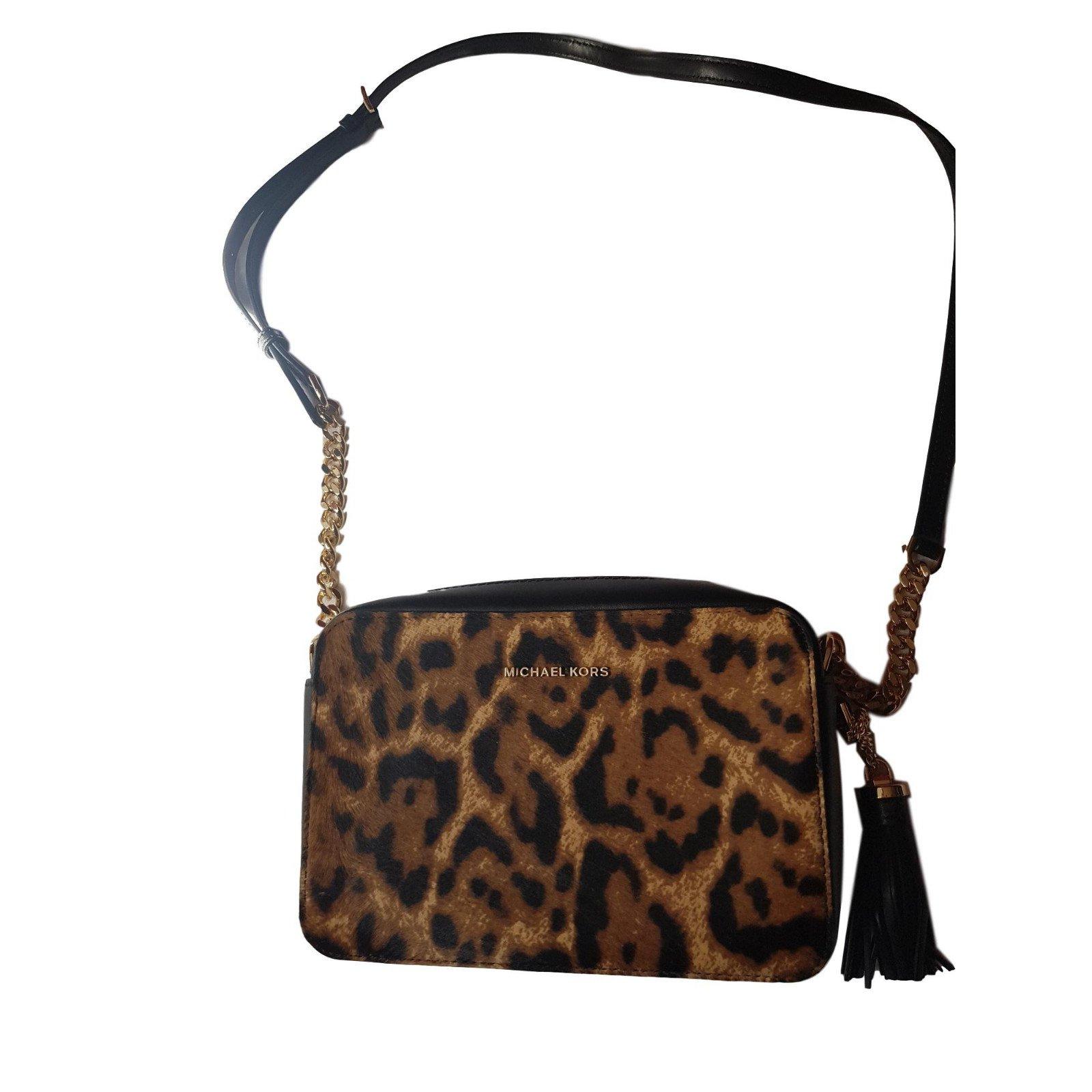 5a75b22006dc Michael Kors Handbags Handbags Leather Leopard print ref.73077 ...