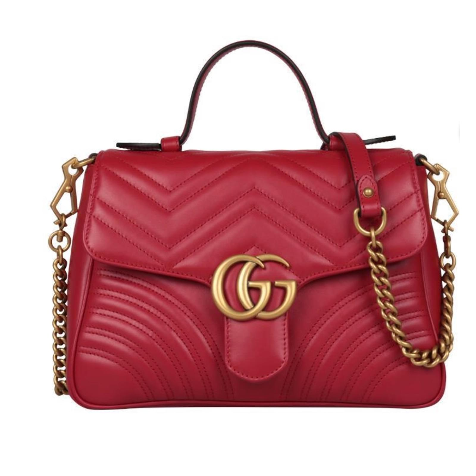 432603fd1 Gucci Handbags Handbags Leather Red ref.73299 - Joli Closet