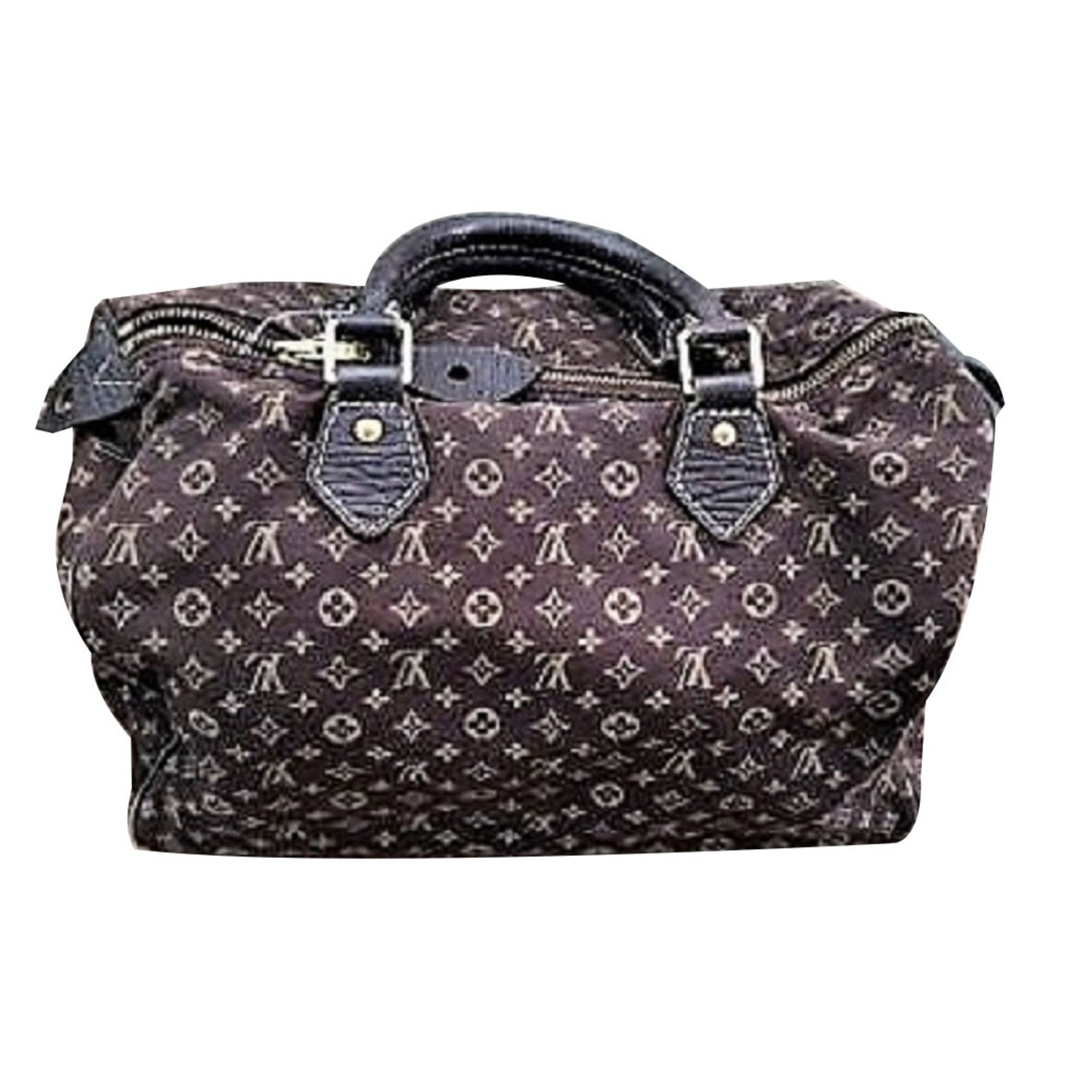 ec23b1bf6904 Louis Vuitton Speedy 30 Handbags Linen Dark red ref.73441 - Joli Closet