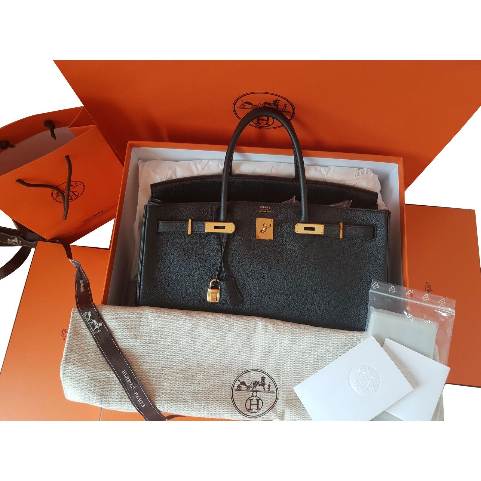 4792fd9b1466 Hermès Birkin 40 black togo Handbags Patent leather Black ref.73562 ...