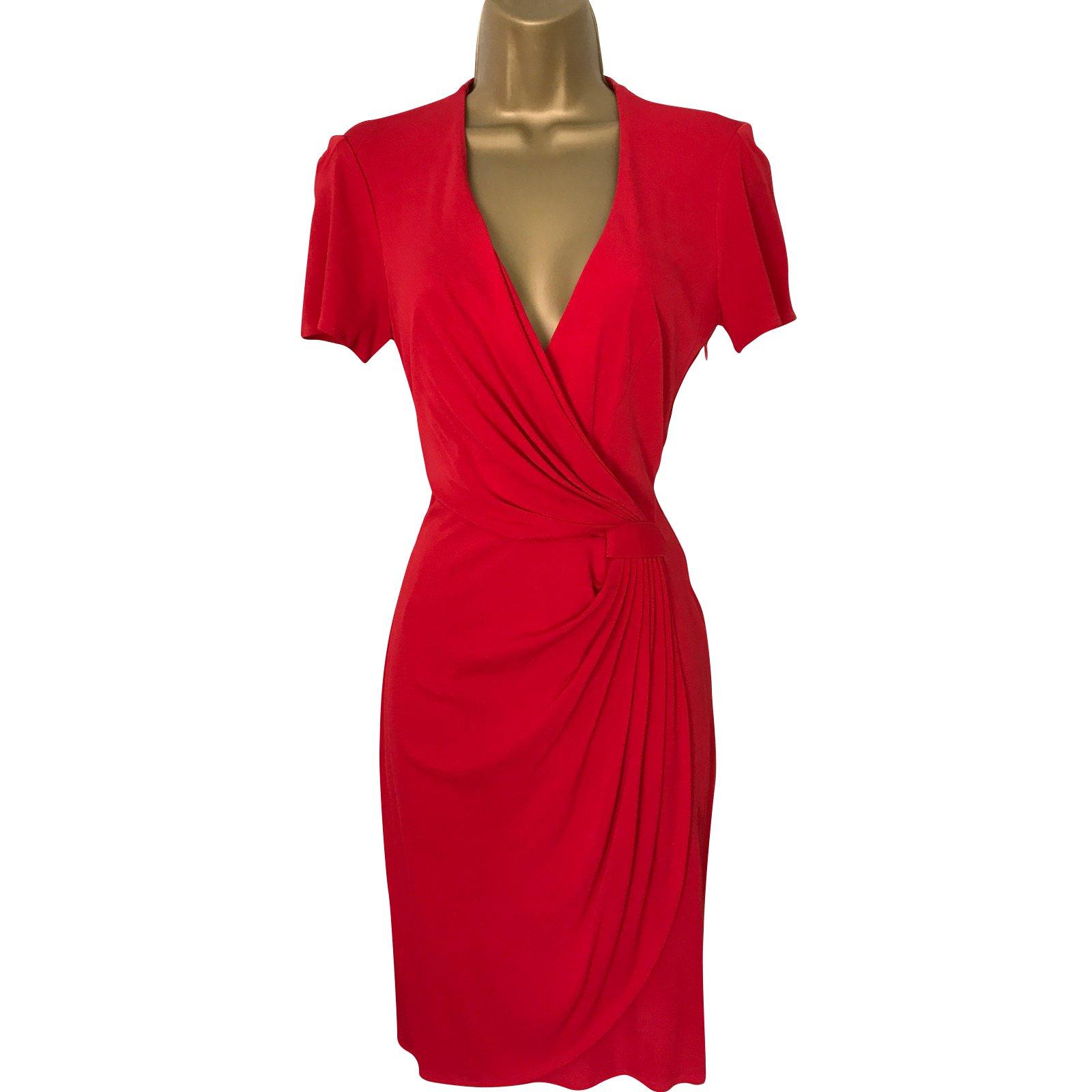 Robes Issa Robes Soie Rouge Ref 73718 Joli Closet