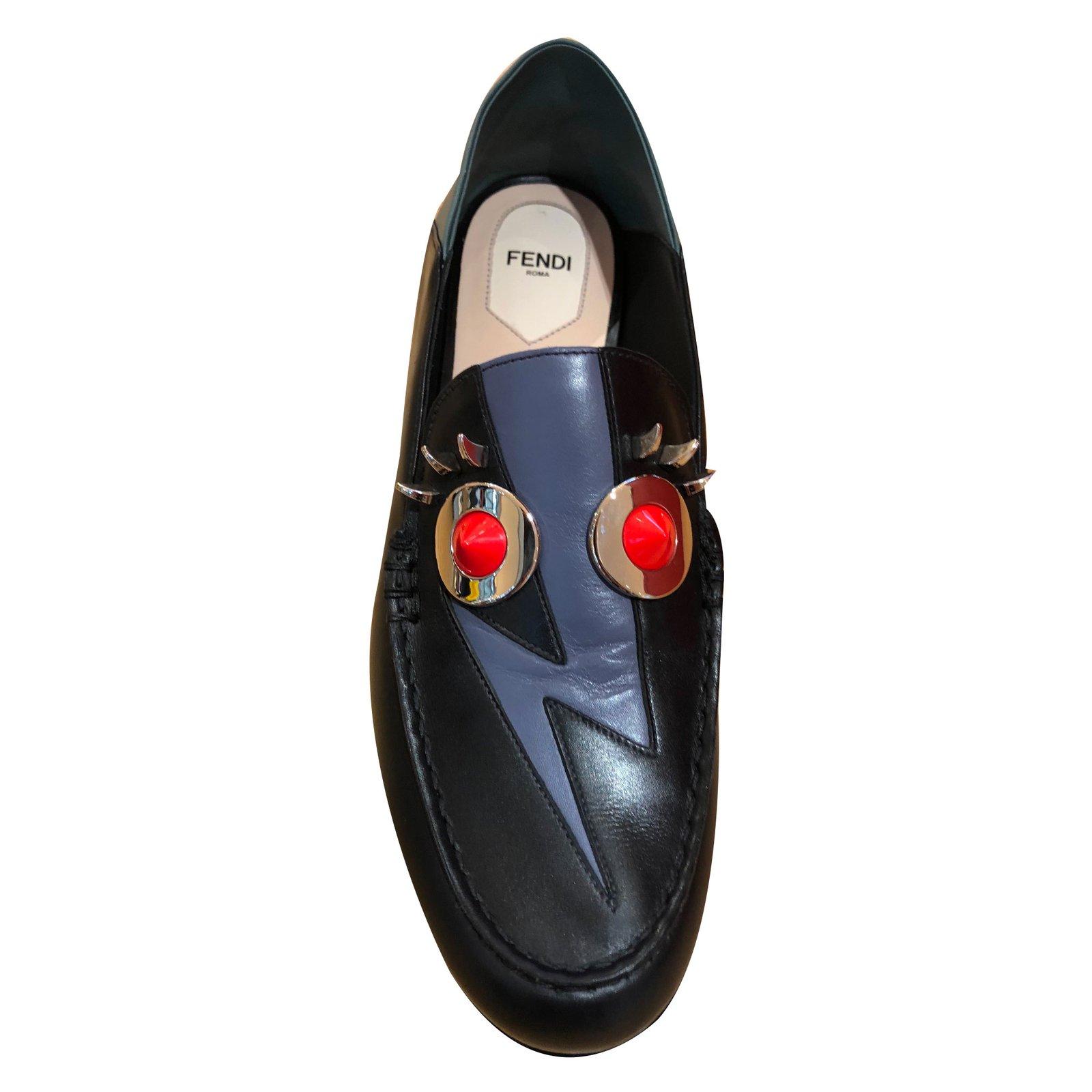 9950d5599fd Fendi loafers flats leather black ref joli closet jpg 1600x1600 Fendi  loafers